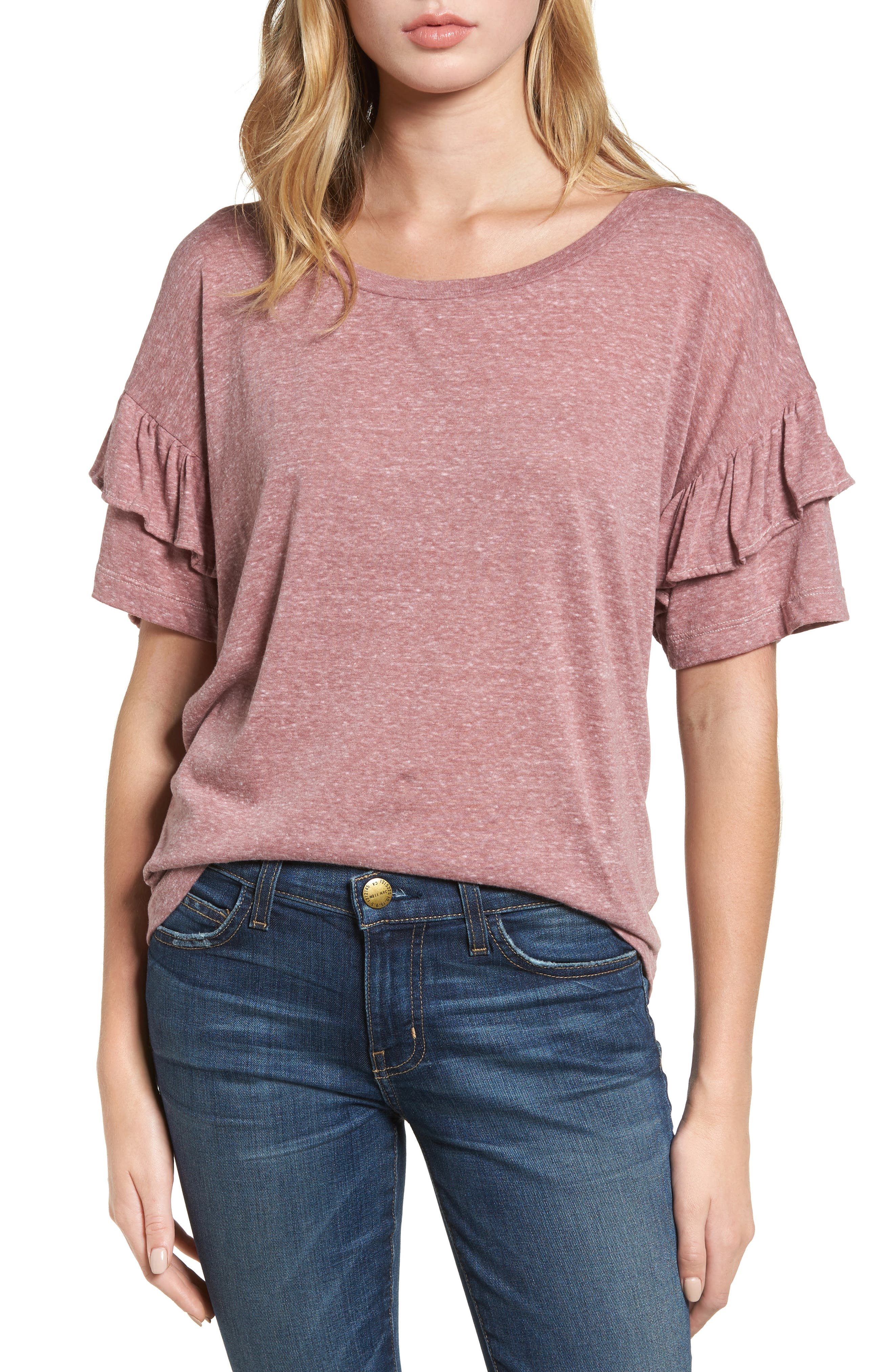 The Ruffle Roadie Tee,                         Main,                         color, 683