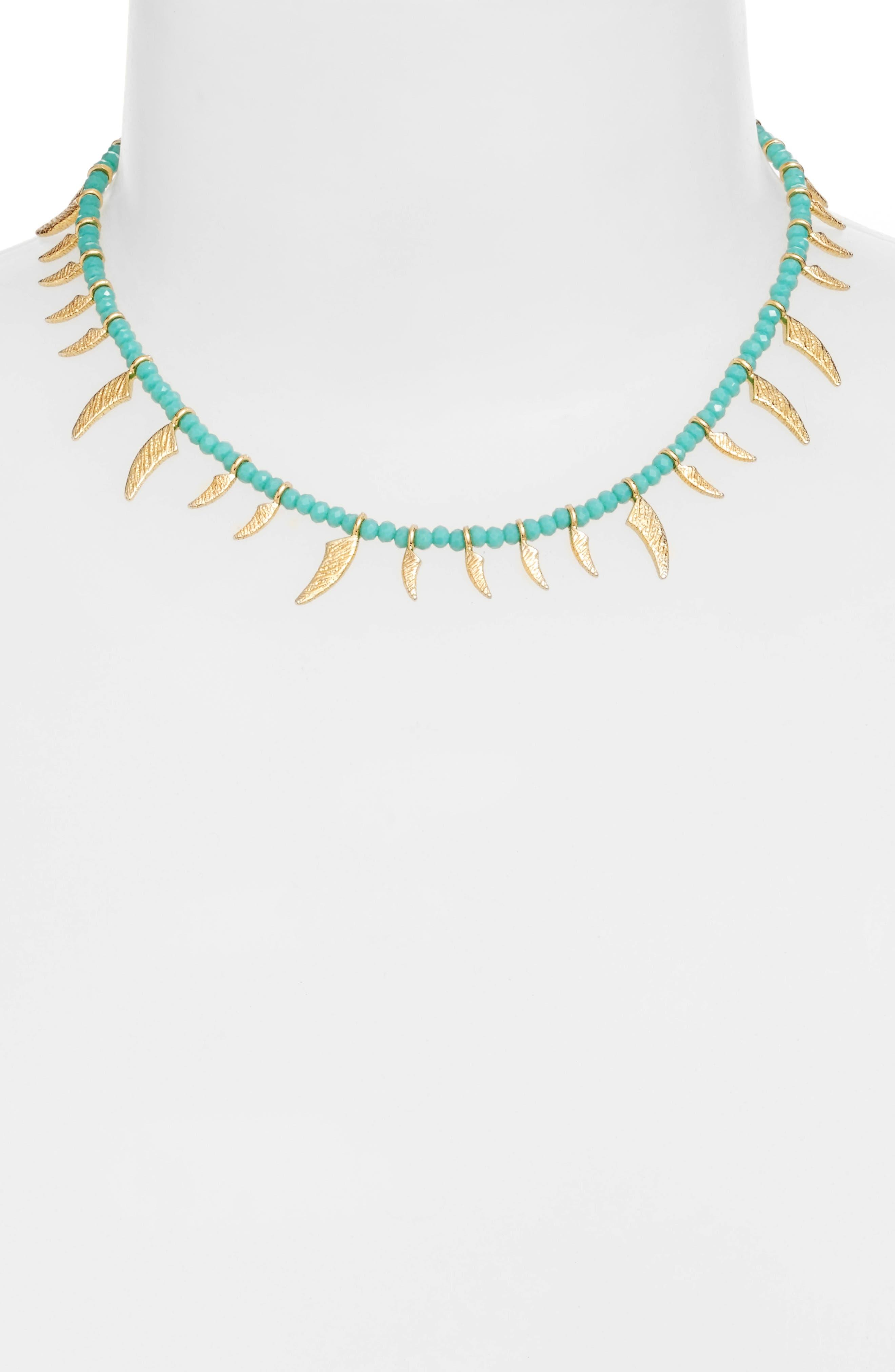 Tiki Collar Necklace,                             Alternate thumbnail 2, color,                             400