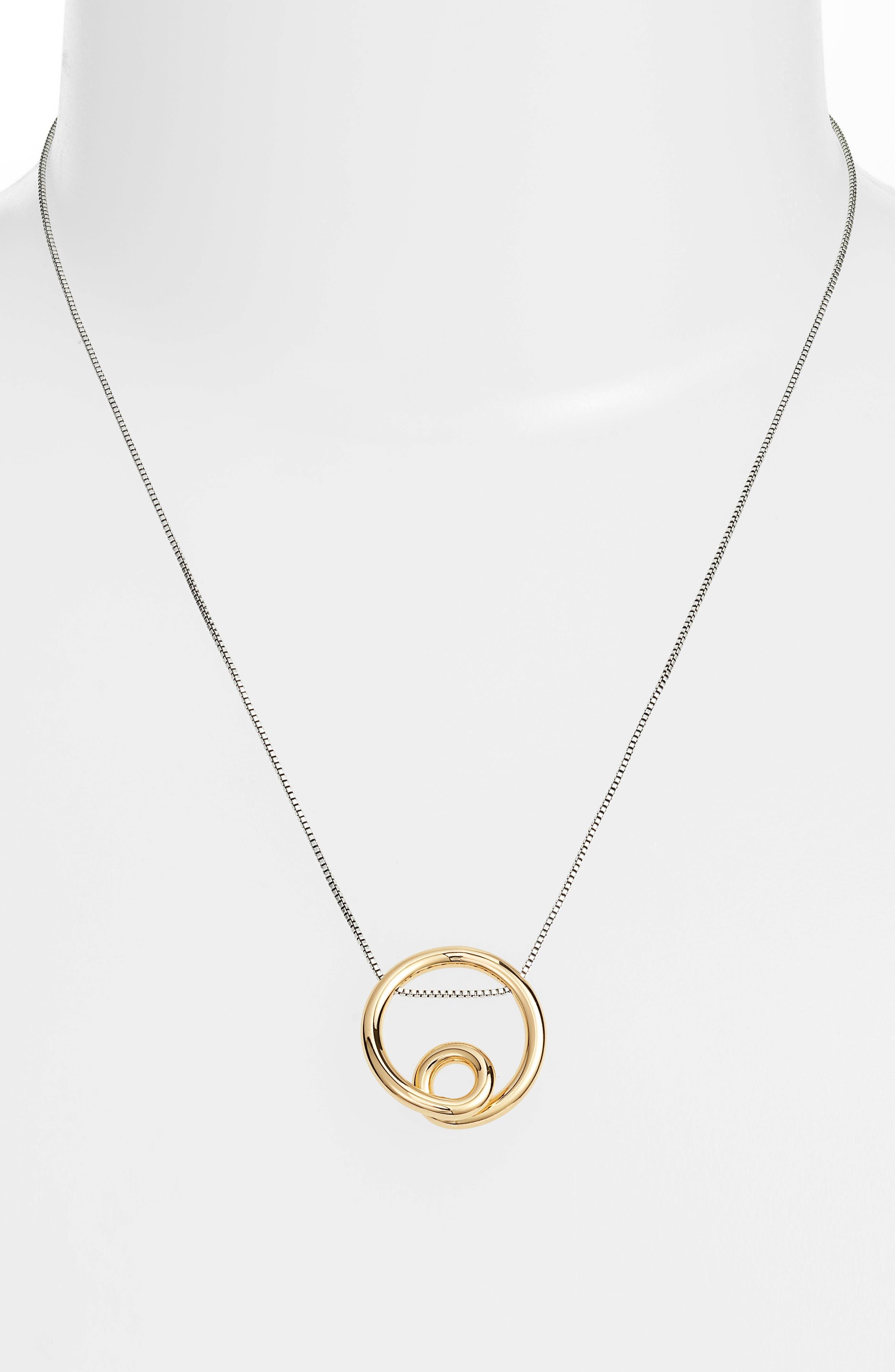 Mini Loop Pendant Necklace,                             Alternate thumbnail 2, color,                             710