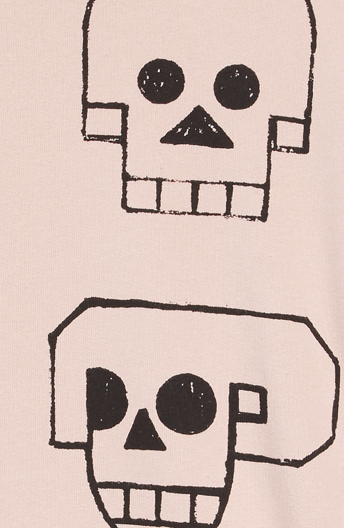 Skull Robot Dress,                             Alternate thumbnail 3, color,                             POWDER PINK