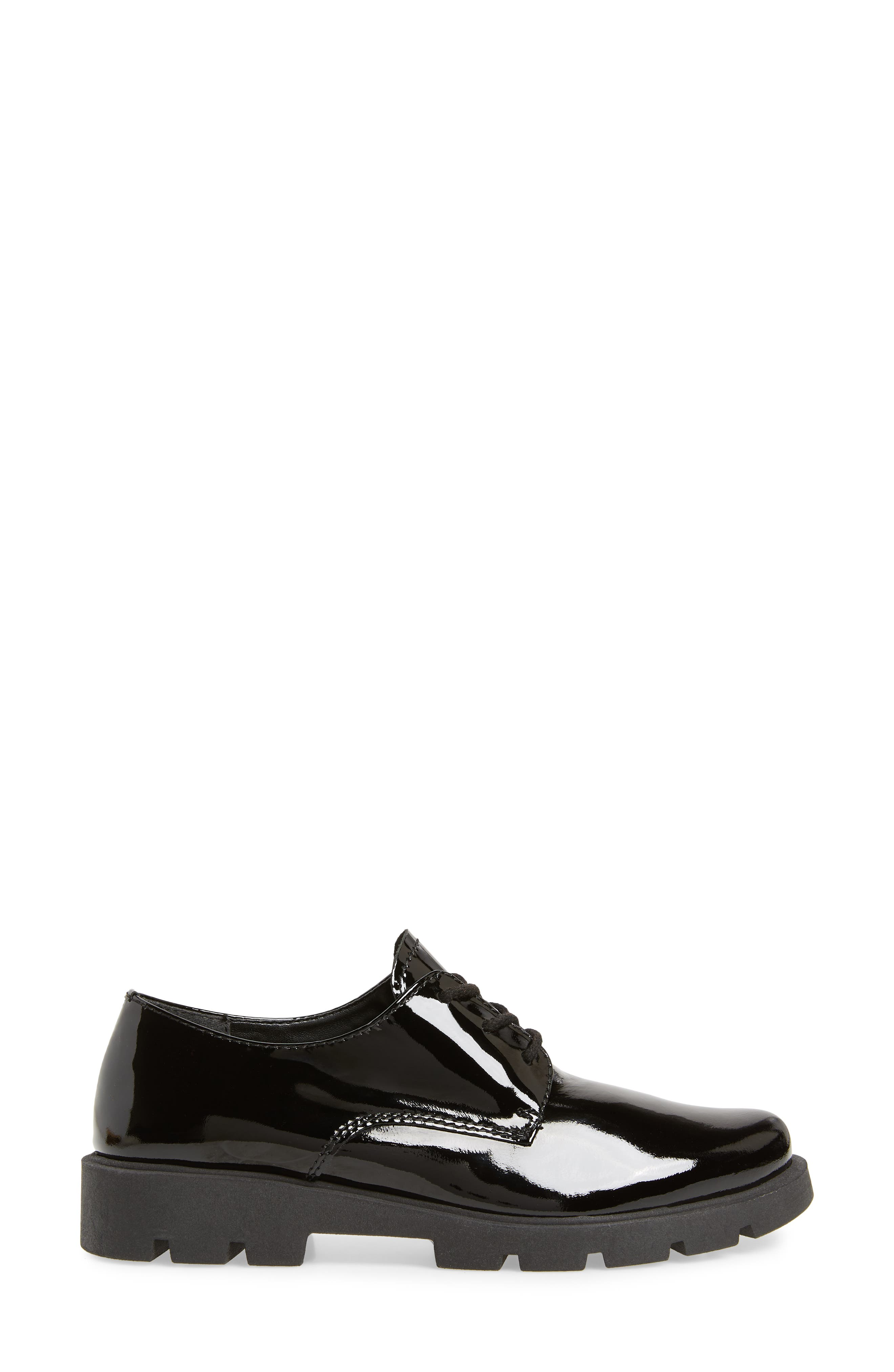 People Mover Derby,                             Alternate thumbnail 3, color,                             BLACK PATENT LEATHER