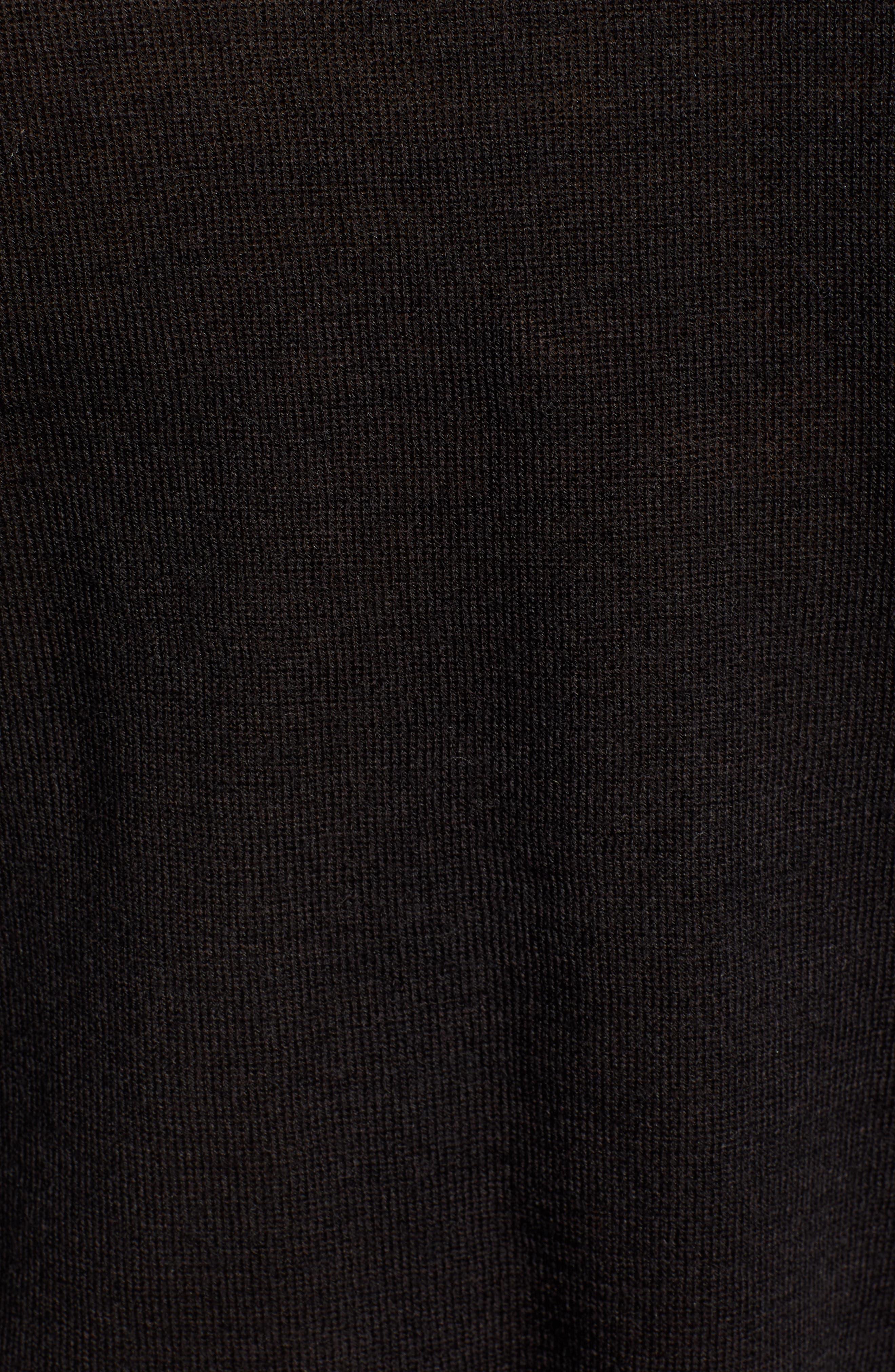 Perfect Fit Turtleneck,                             Alternate thumbnail 5, color,                             BLACK