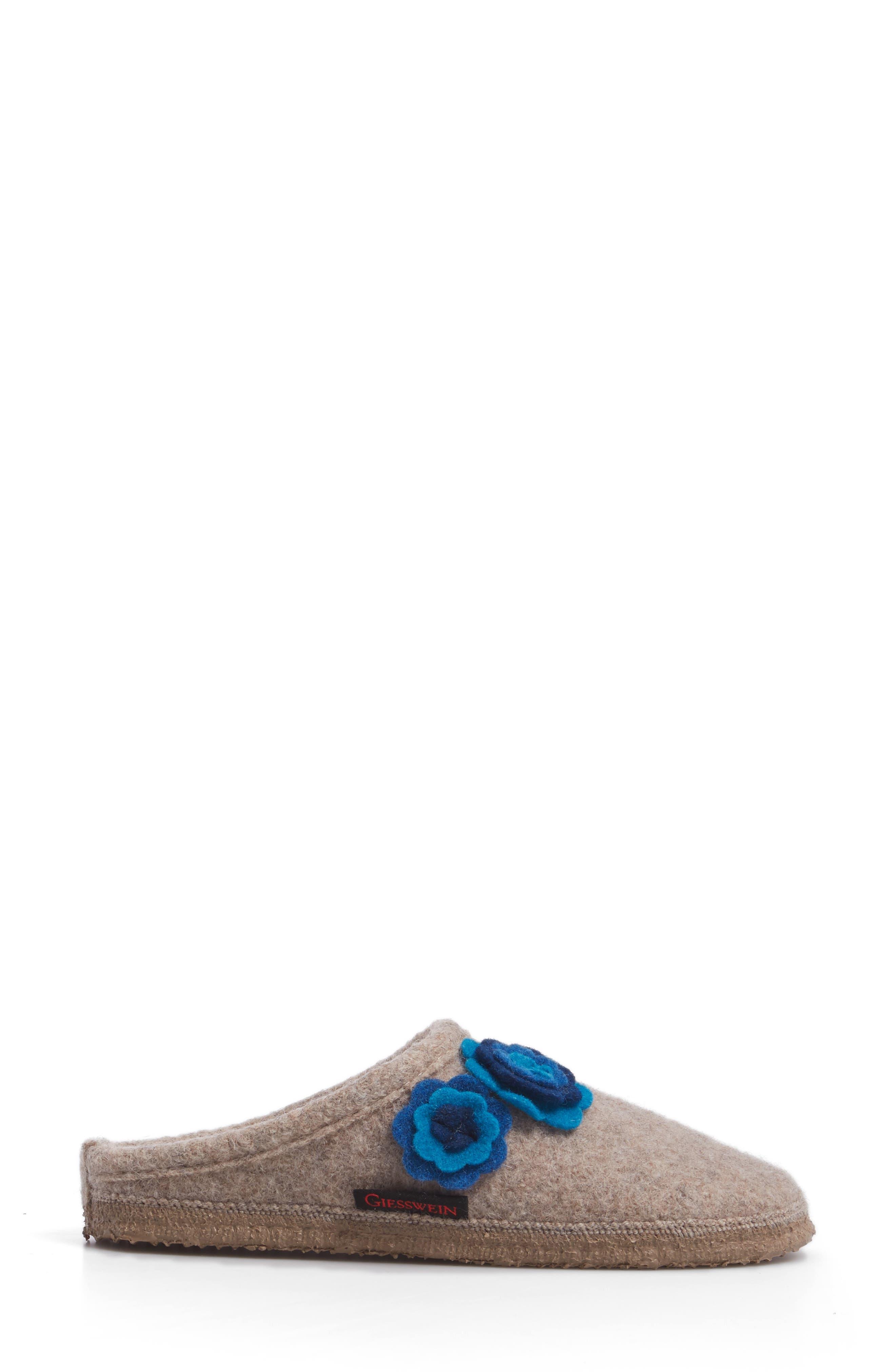 Georgie Indoor Boiled Wool Slipper,                             Alternate thumbnail 3, color,                             NATURAL WOOL