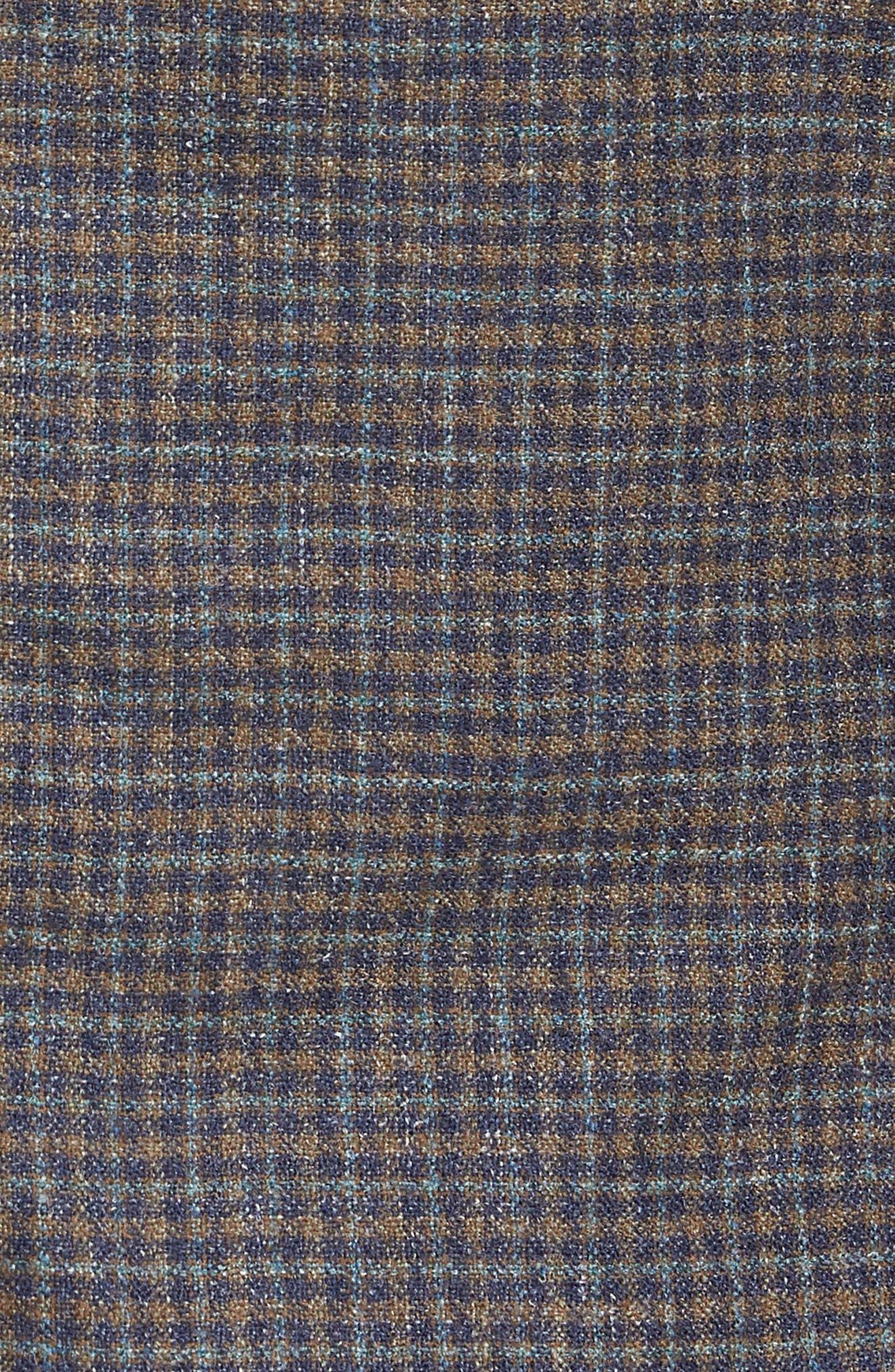 Crown Soft Check Regular Fit Sport Coat,                             Alternate thumbnail 5, color,                             YELLOW