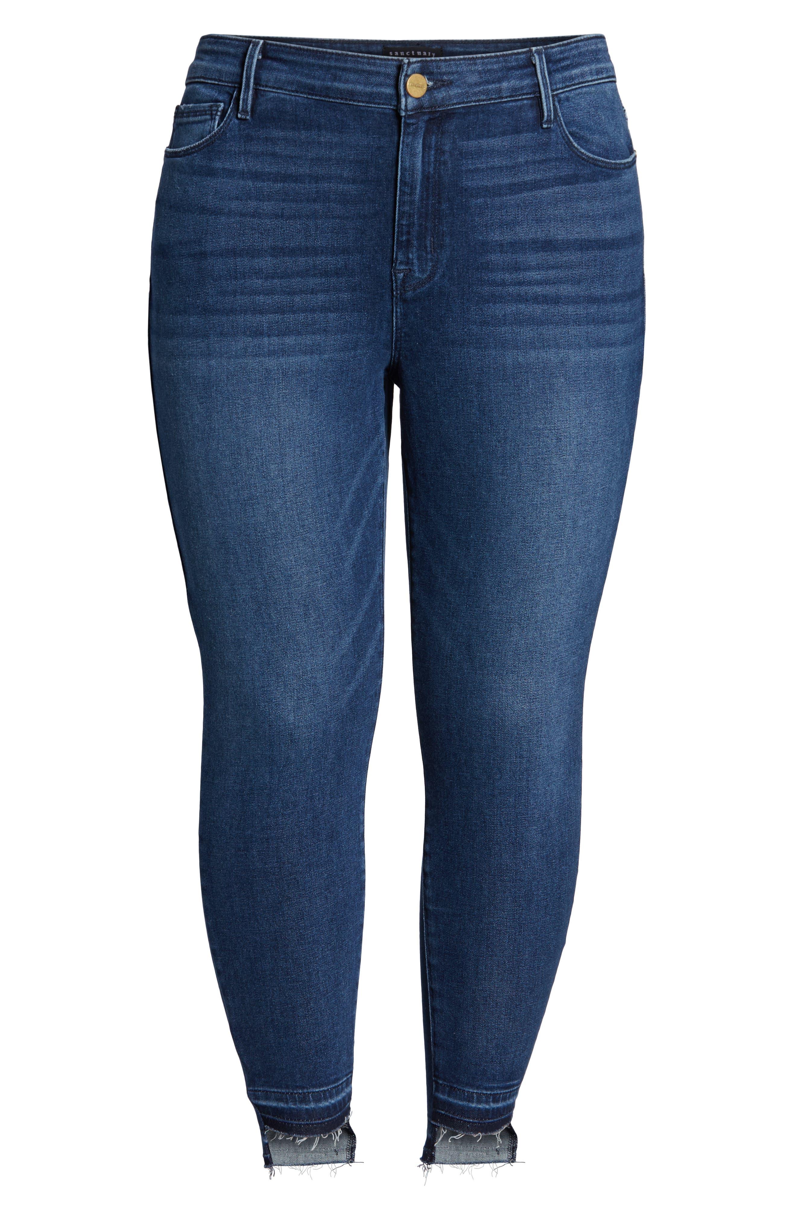 Social Standard Release Hem Ankle Skinny Jeans,                             Alternate thumbnail 2, color,                             ELYSIAN BLUE
