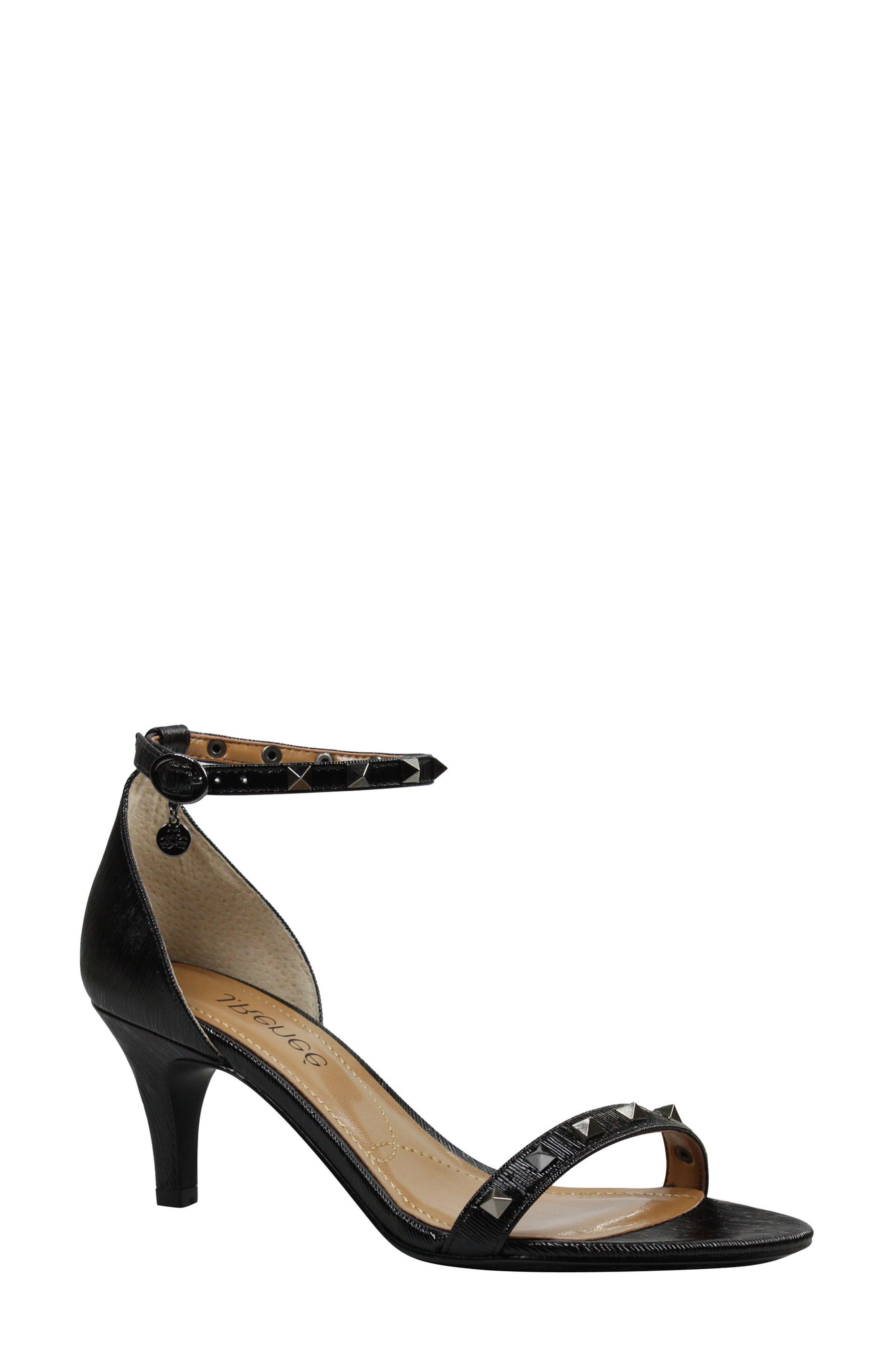 Lerida Studded Ankle Strap Sandal,                         Main,                         color, 001