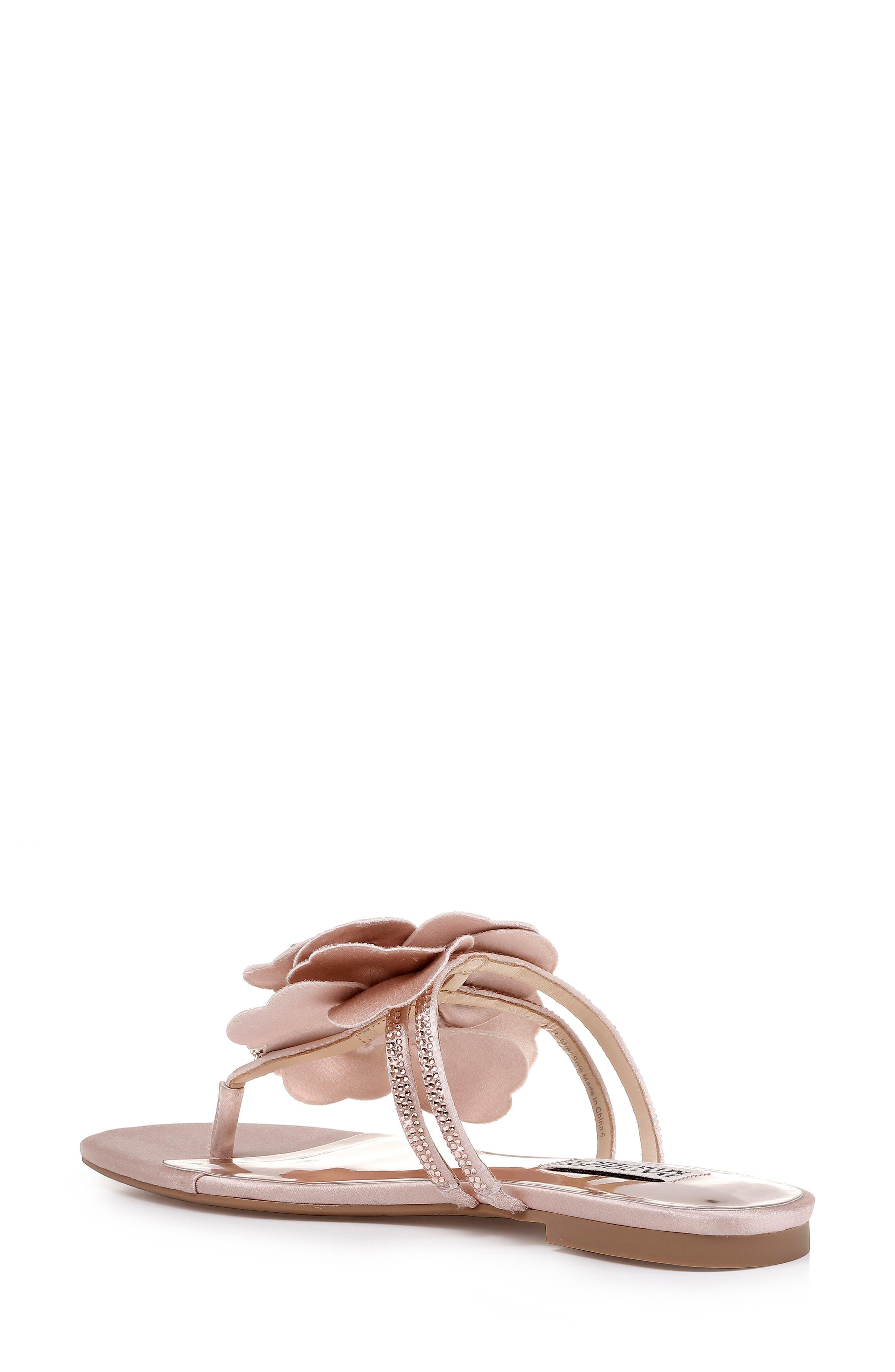 Badgley Mischka Laurie Embellished Slide Sandal,                             Alternate thumbnail 2, color,                             SOFT BLUSH SATIN