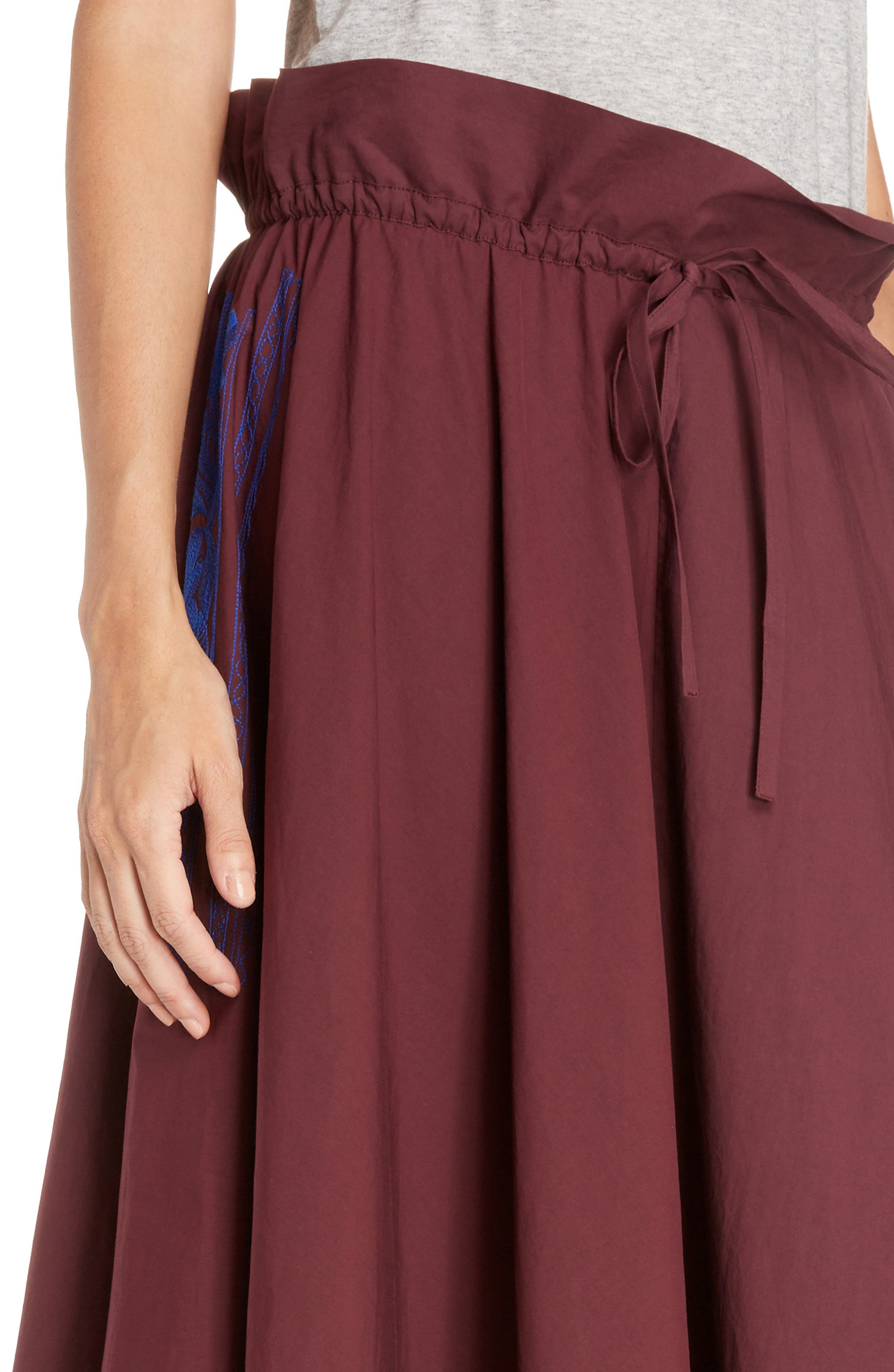Hela Tie Waist Skirt,                             Alternate thumbnail 4, color,                             930