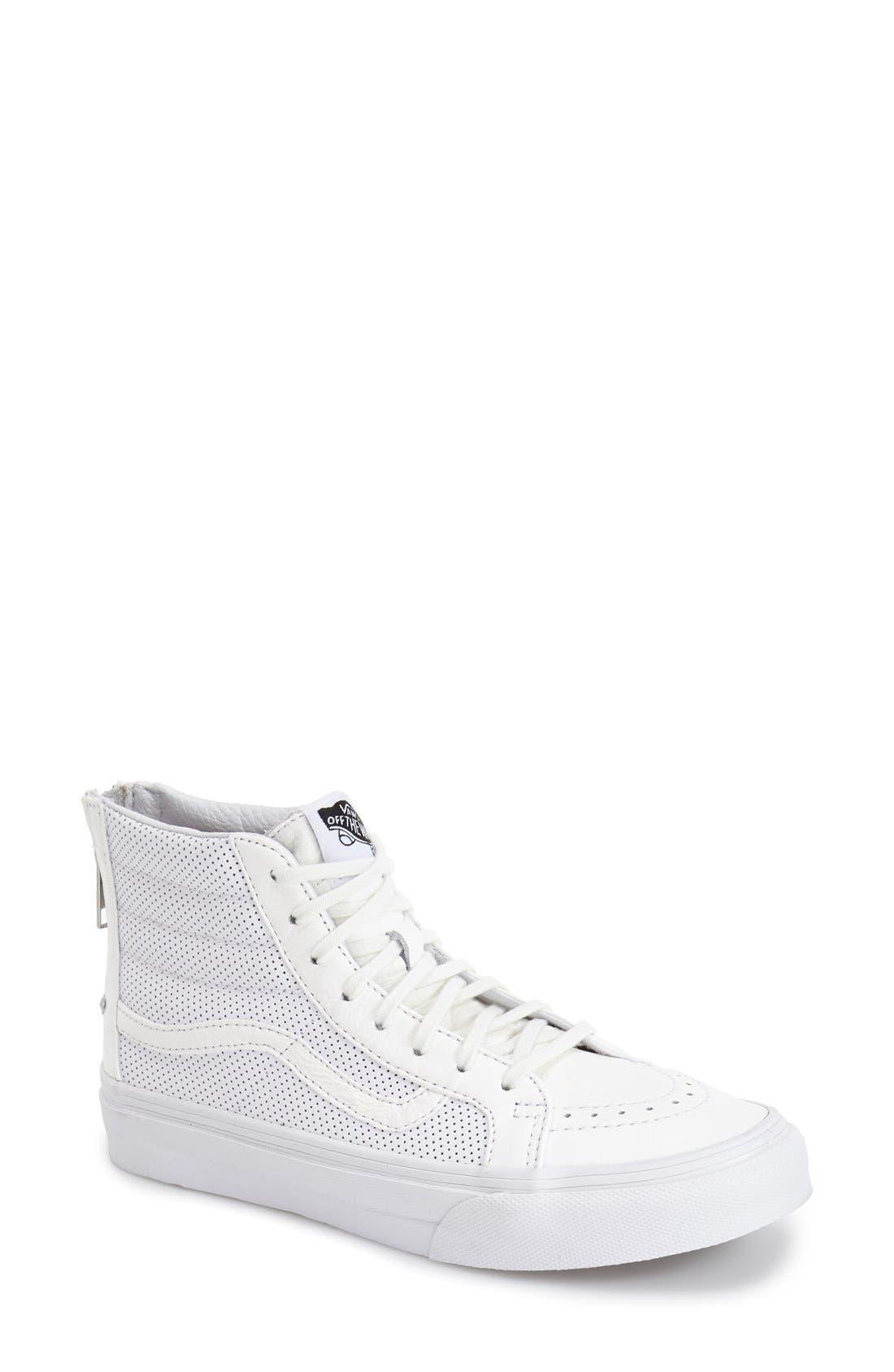 'Sk8-Hi Slim' Perforated Sneaker,                             Main thumbnail 2, color,
