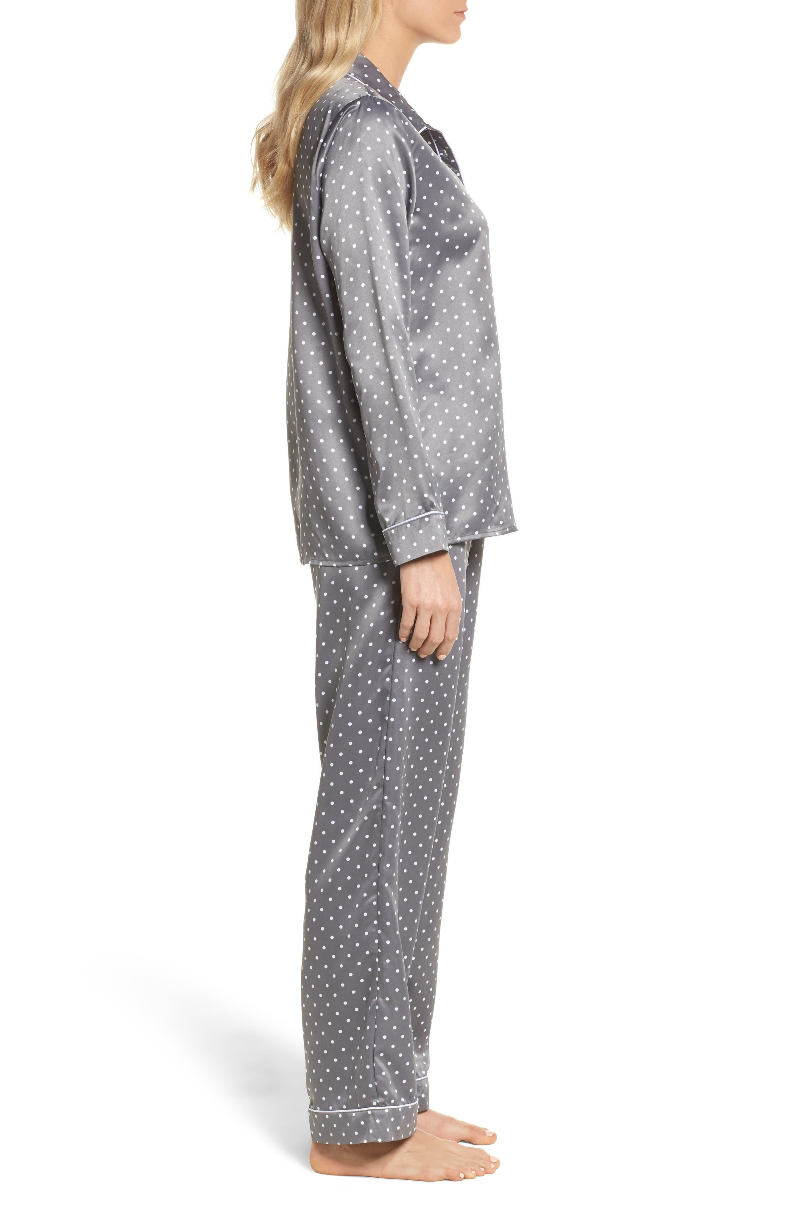 Satin Pajamas,                             Alternate thumbnail 3, color,                             021