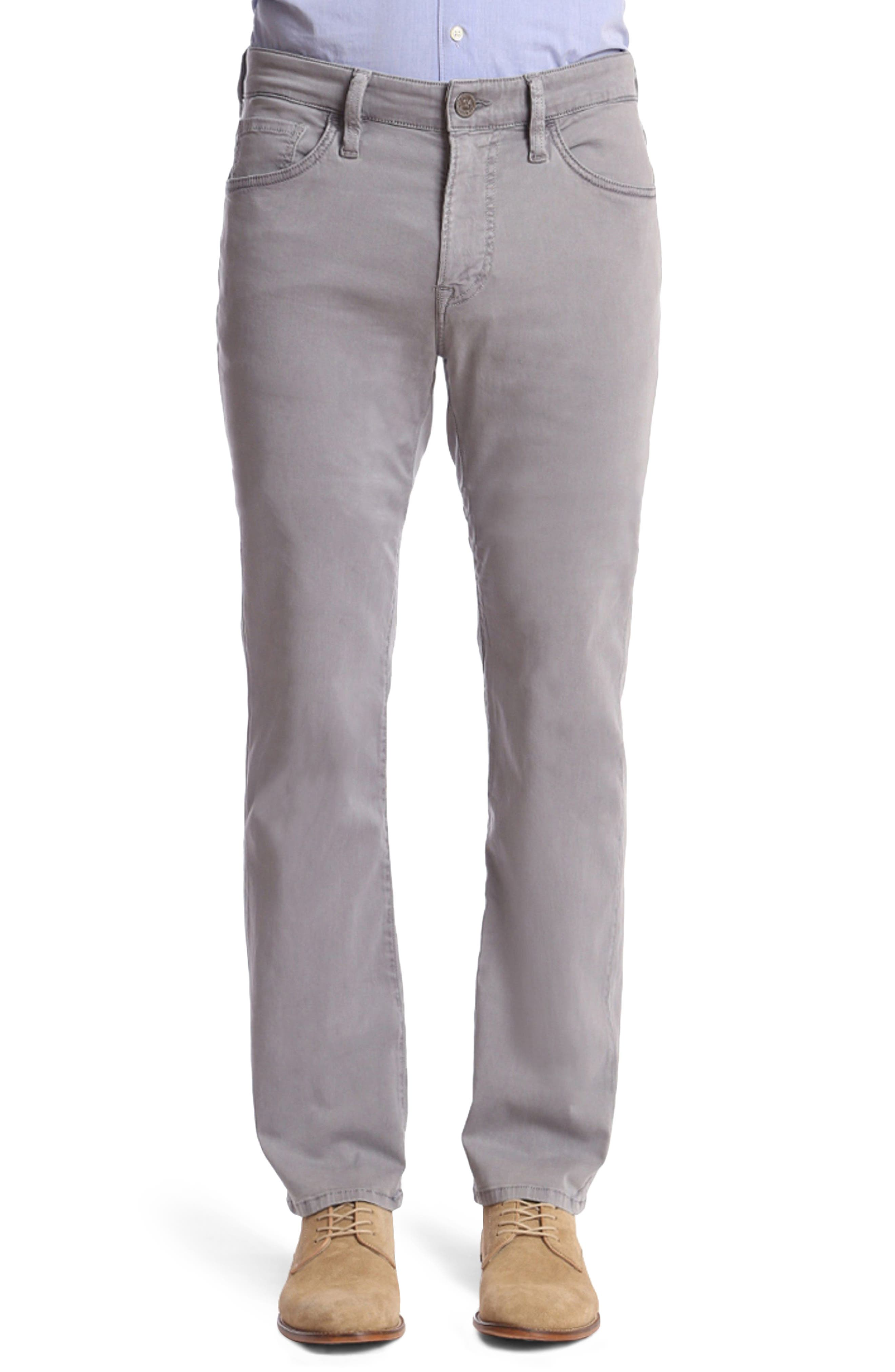 Men's 34 Heritage Courage Straight Fit Jeans, Size 34 x 32 - Grey