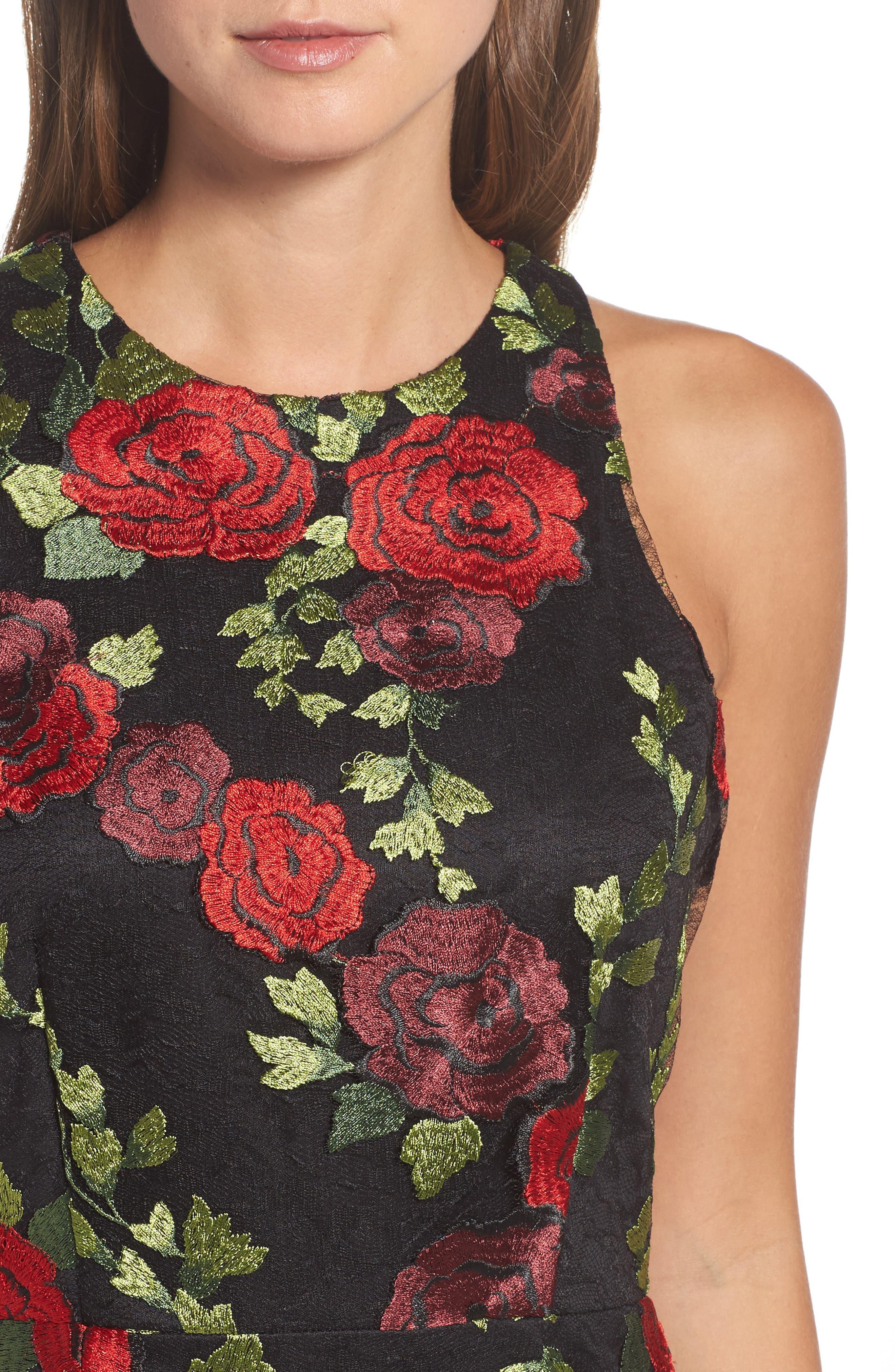 Lace Sheath Dress,                             Alternate thumbnail 4, color,                             007