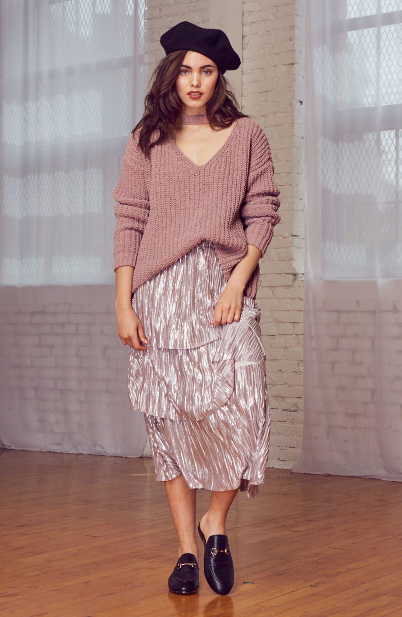 Mary Lous Choker Sweater,                             Alternate thumbnail 14, color,