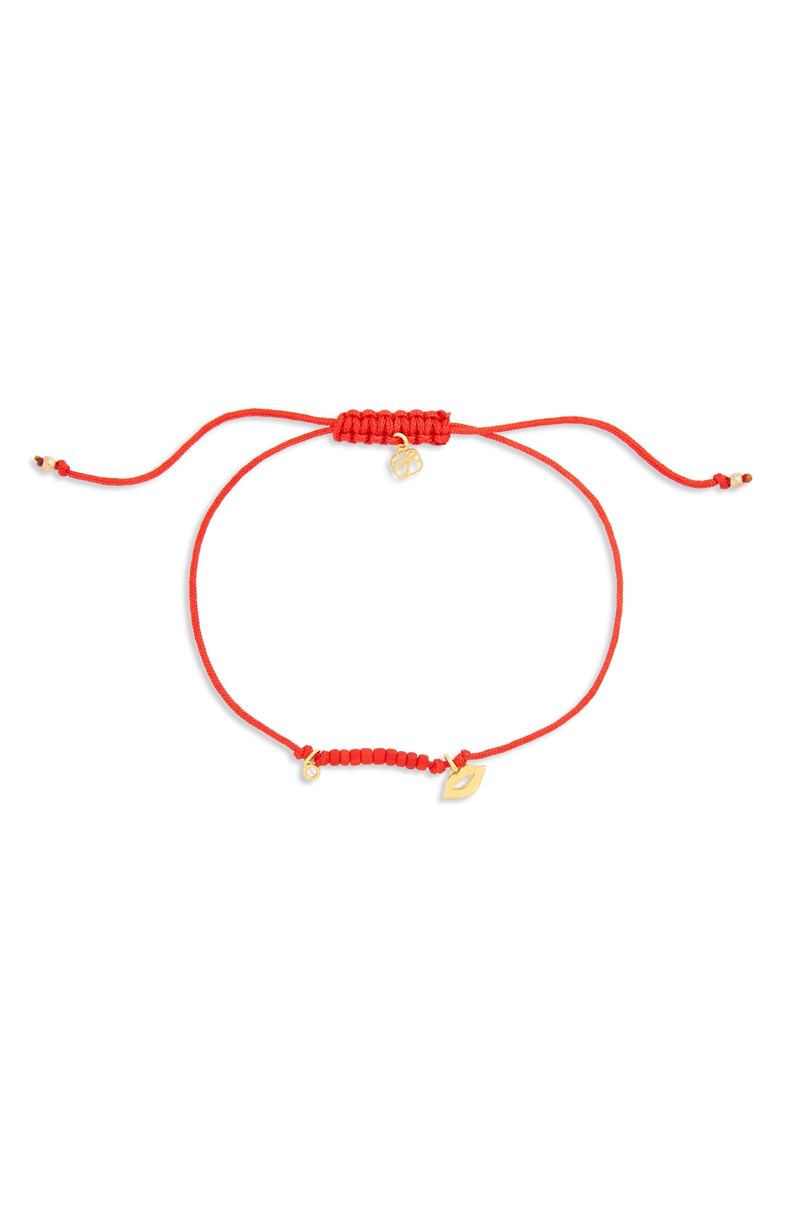 Diamond Lips Bracelet,                             Main thumbnail 1, color,                             710