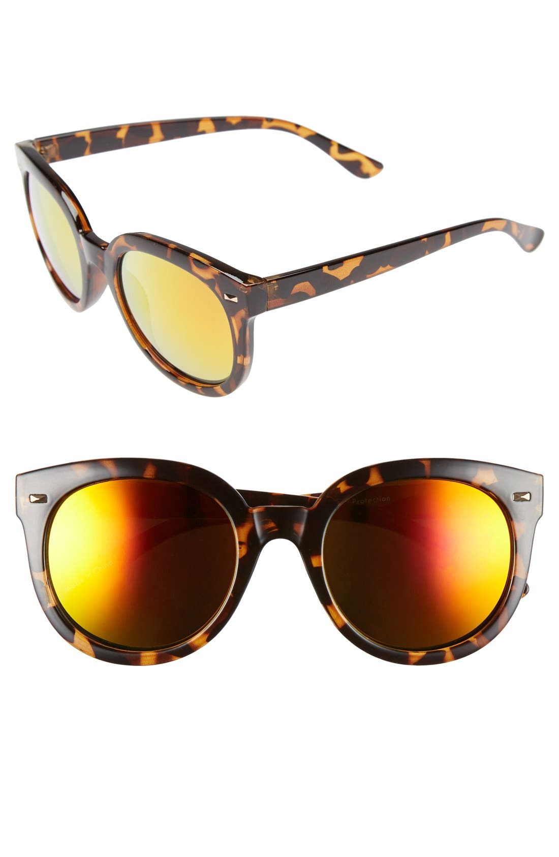 52mm Oversize Mirrored Sunglasses,                             Main thumbnail 2, color,