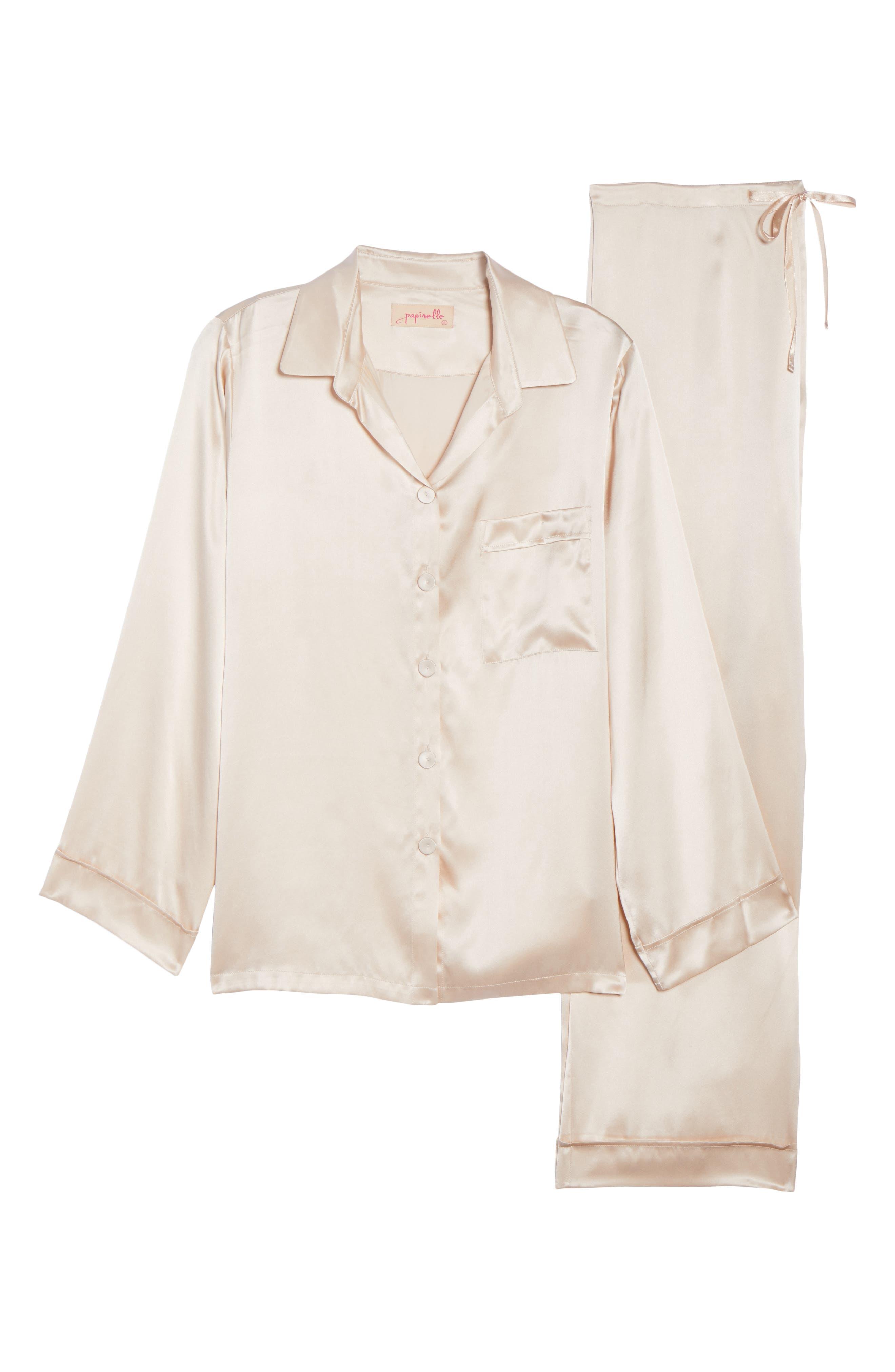 Silk Pajamas,                             Alternate thumbnail 6, color,                             ROMANCE