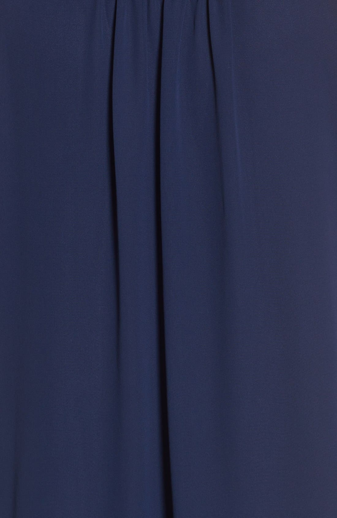 Tie Neck Shift Dress,                             Alternate thumbnail 3, color,                             410