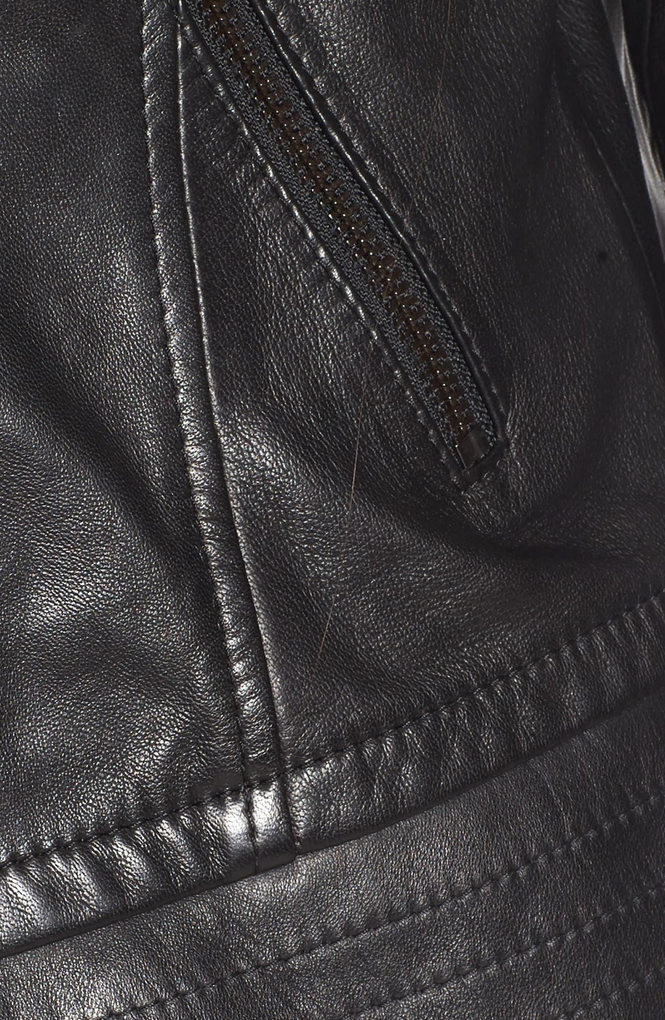 Lirio Moto Jacket,                             Alternate thumbnail 6, color,                             001