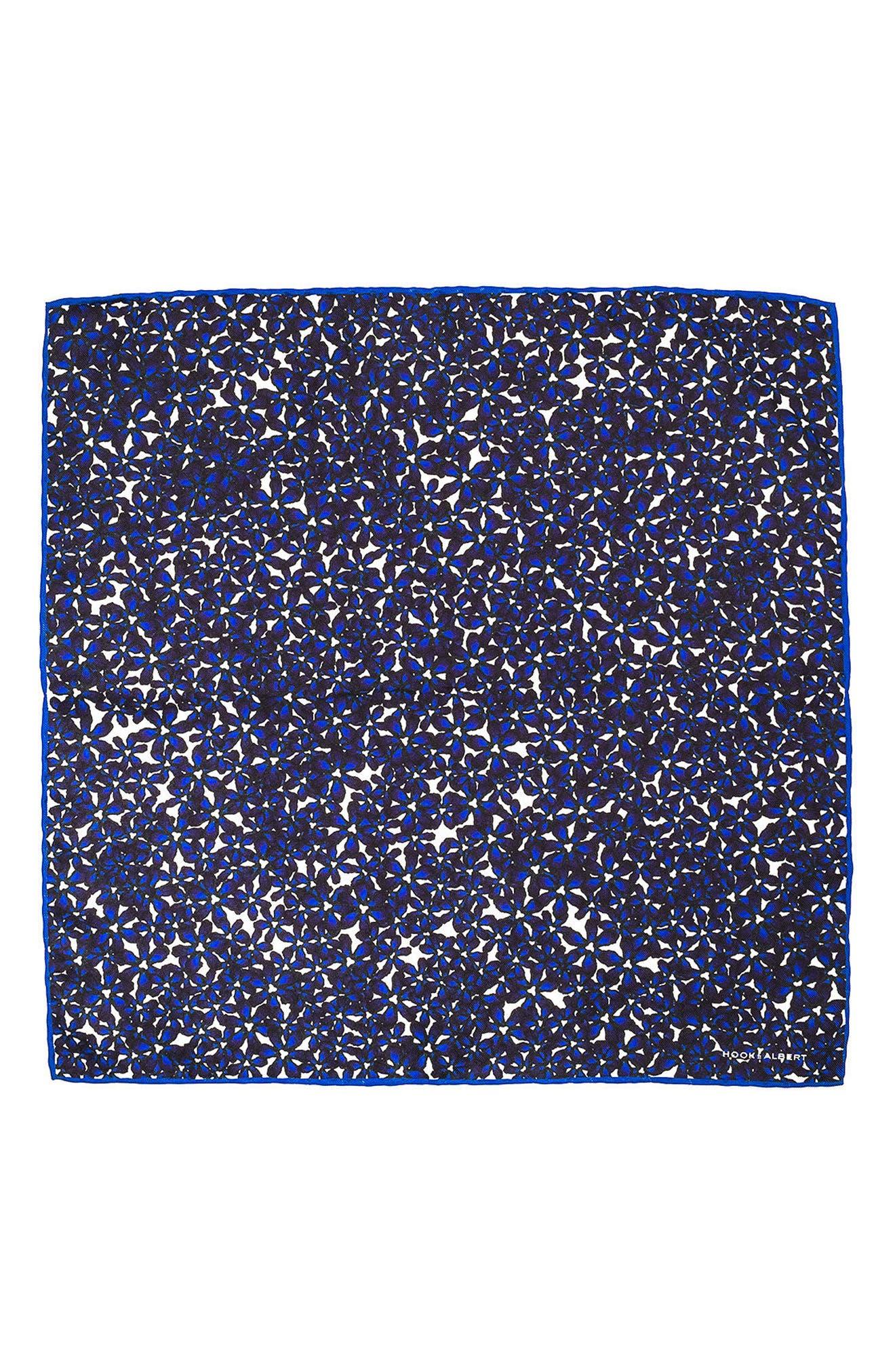 Bright Floral Silk Pocket Square,                             Alternate thumbnail 2, color,                             400