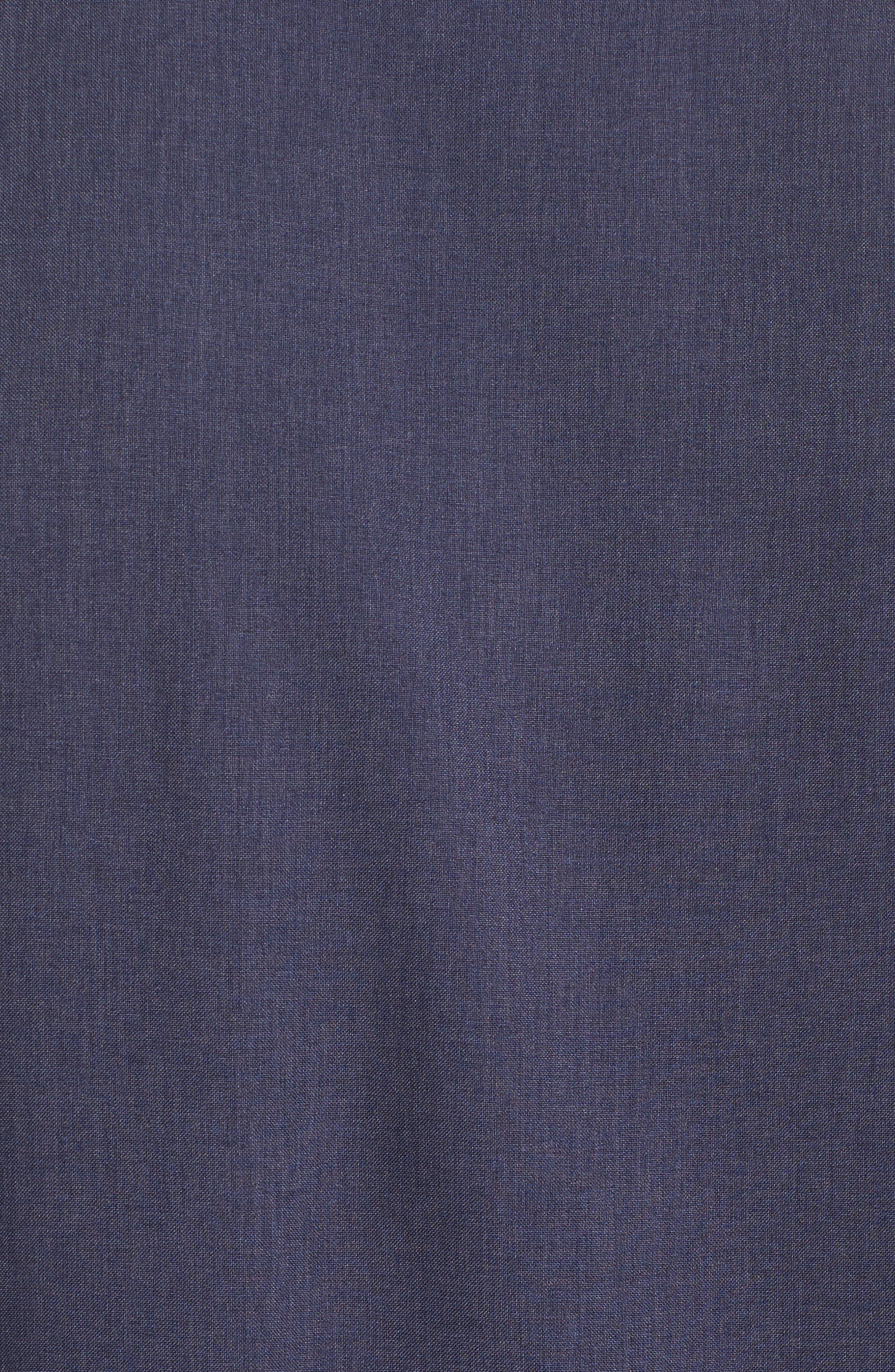 Trim Fit Performance Knit Sport Shirt,                             Alternate thumbnail 5, color,                             NAVY