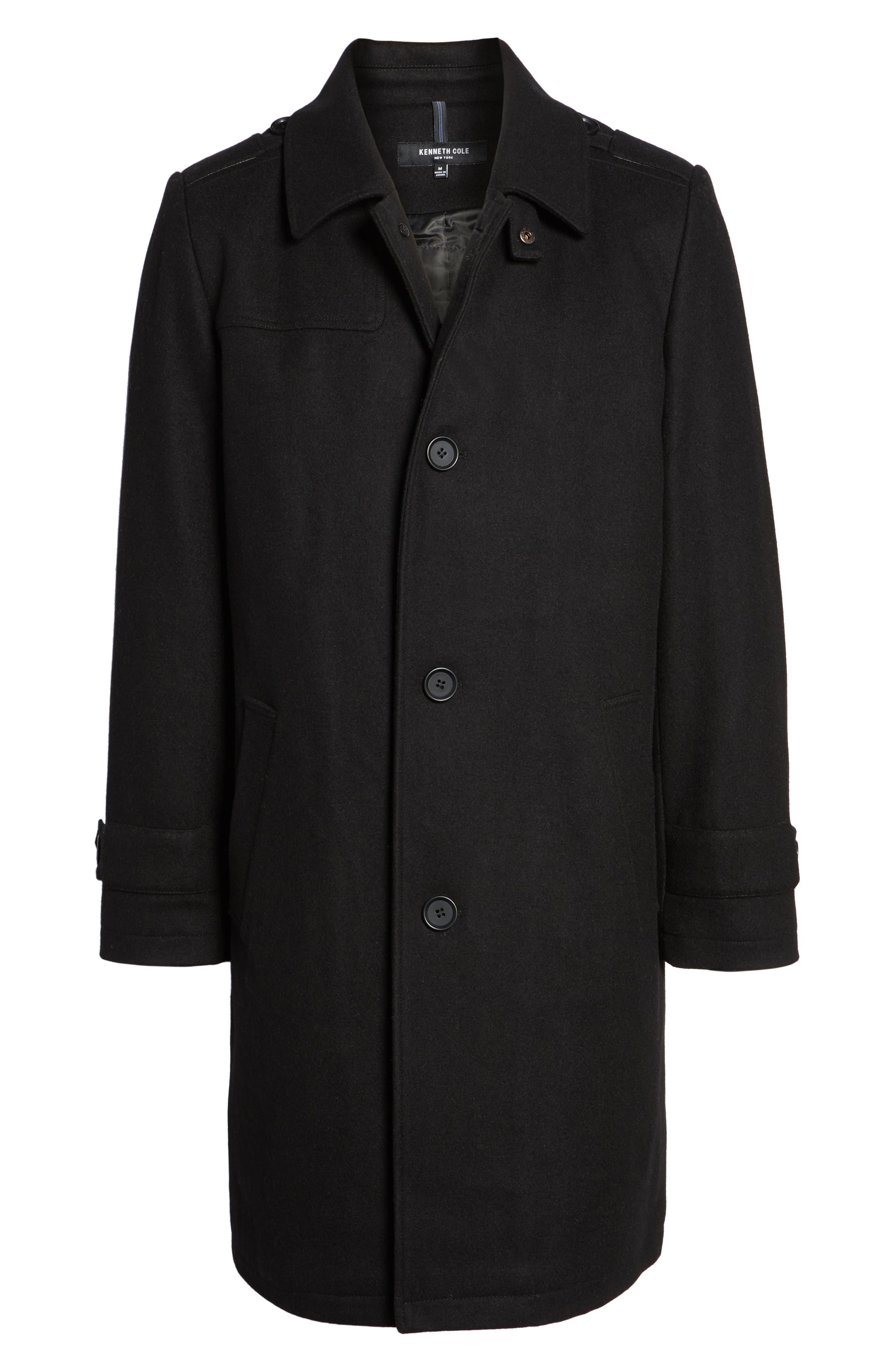 Wool Blend Overcoat,                             Alternate thumbnail 5, color,                             001