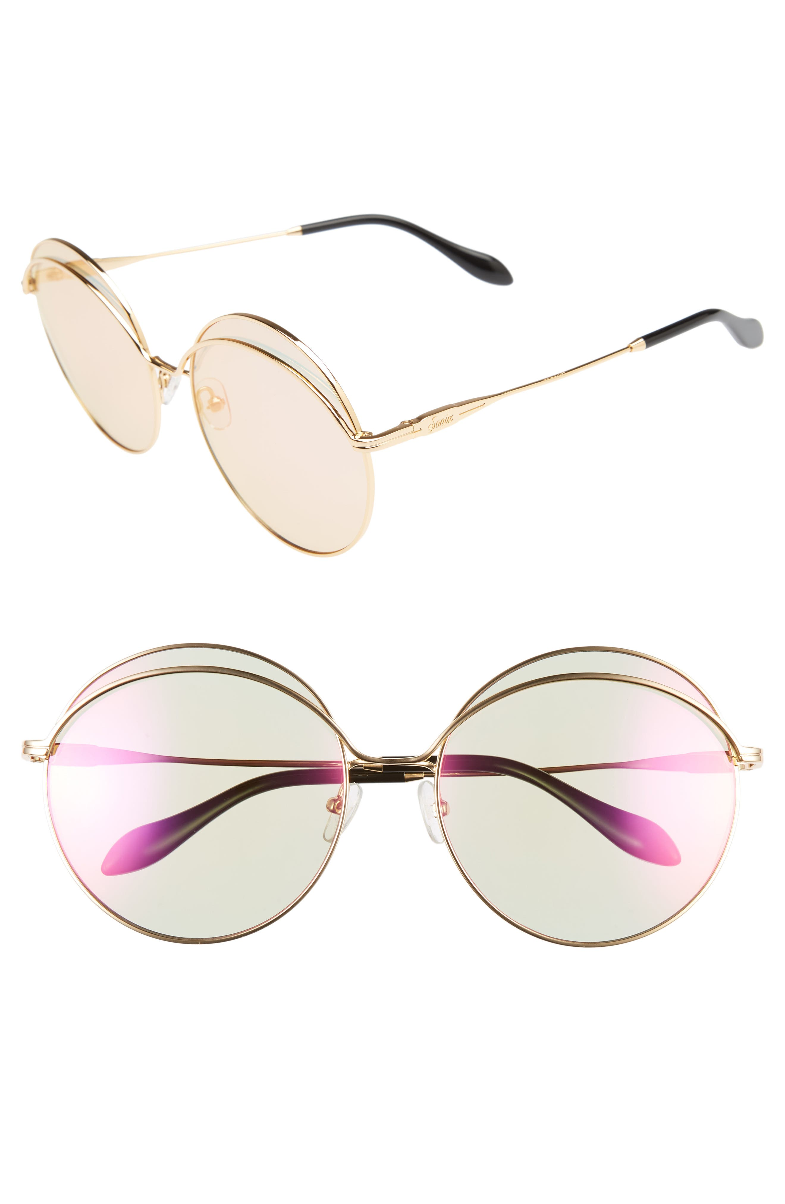 Oasis 63mm Round Sunglasses,                             Main thumbnail 3, color,