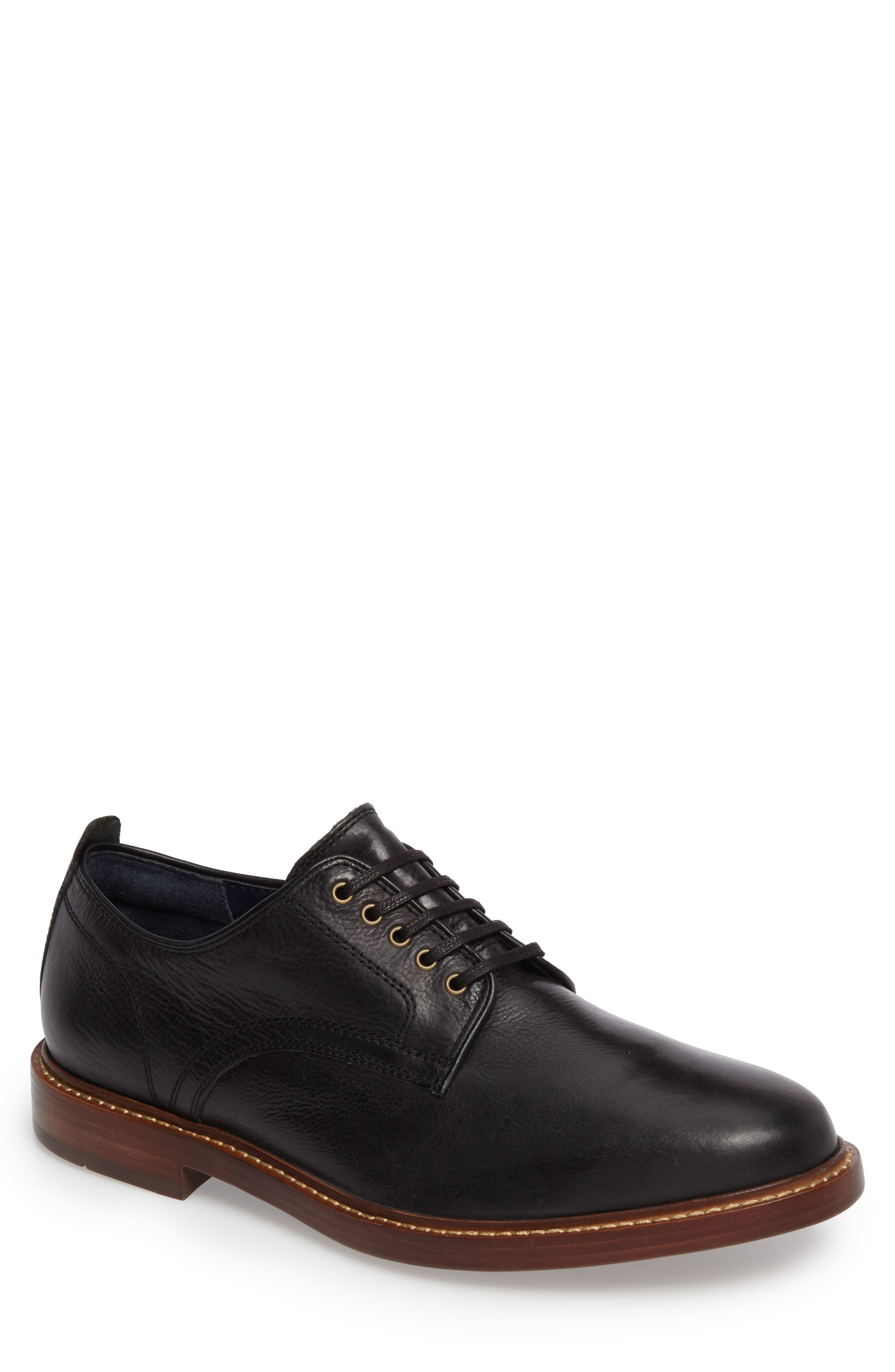 Tyler Grand Plain-Toe Derby,                         Main,                         color, 001