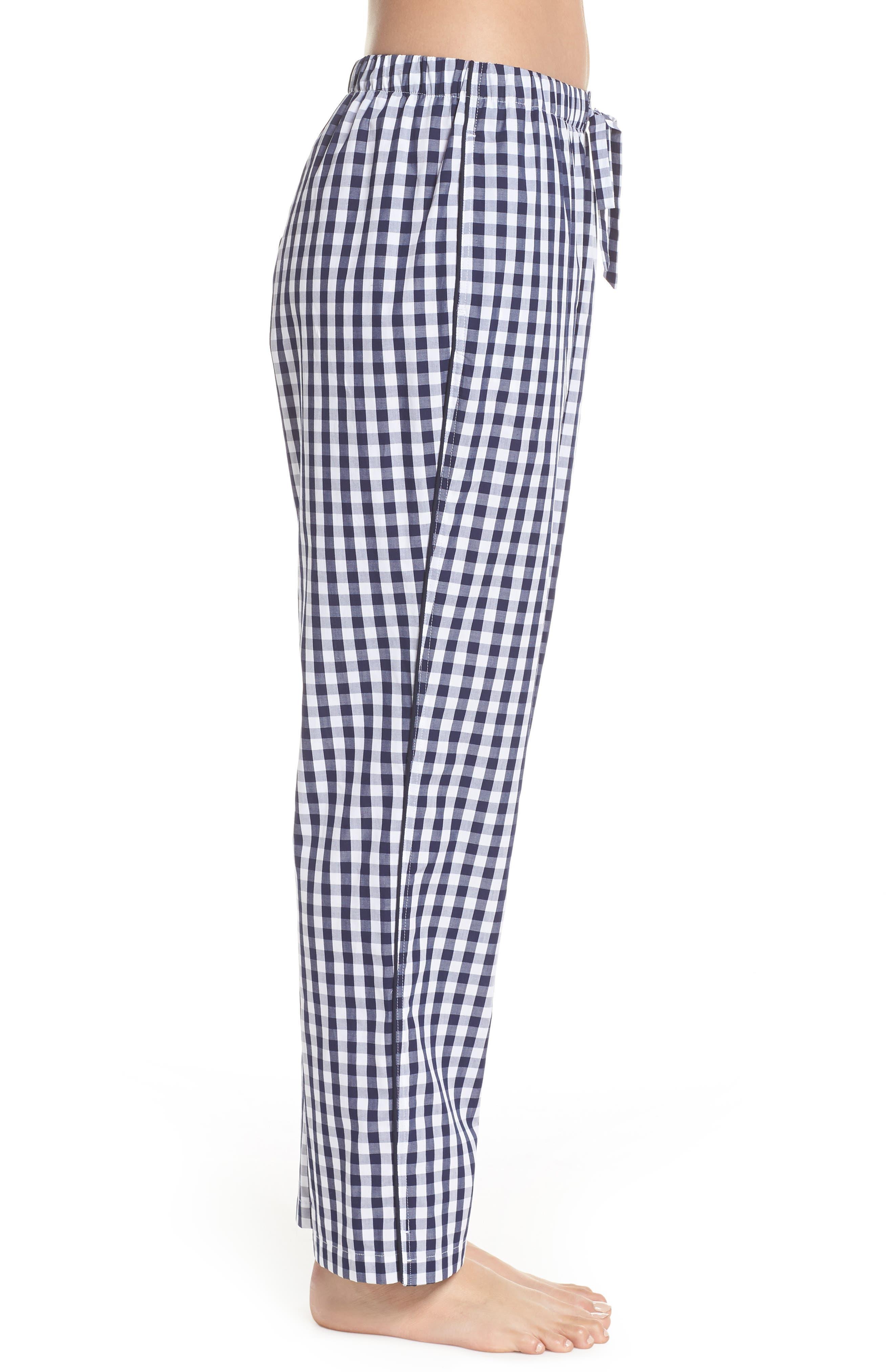Marina Women's Pajama Pants,                             Alternate thumbnail 4, color,                             LARGE GINGHAM BLUE