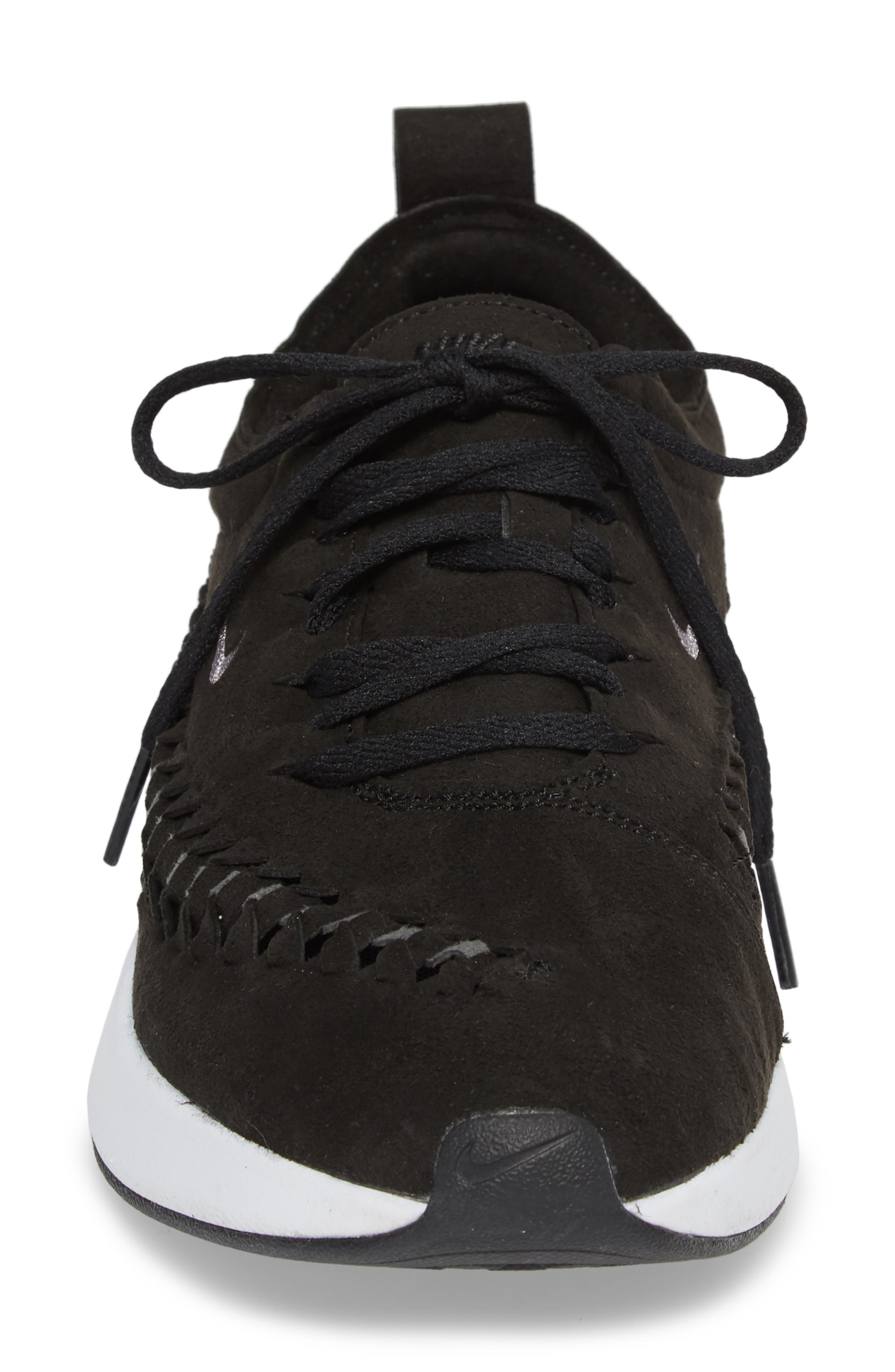 Dualtone Racer Woven Sneaker,                             Alternate thumbnail 4, color,                             002