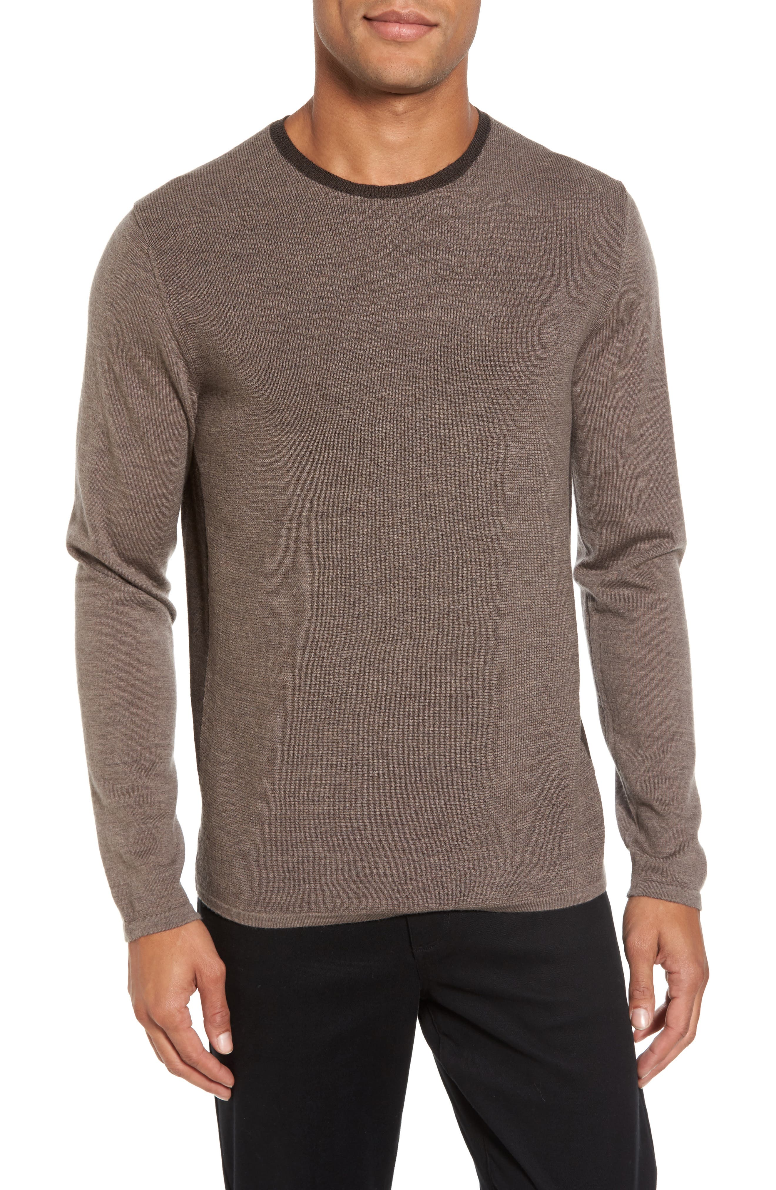 Huxley Merino Sweater,                             Main thumbnail 1, color,                             LIGHT COFFEE