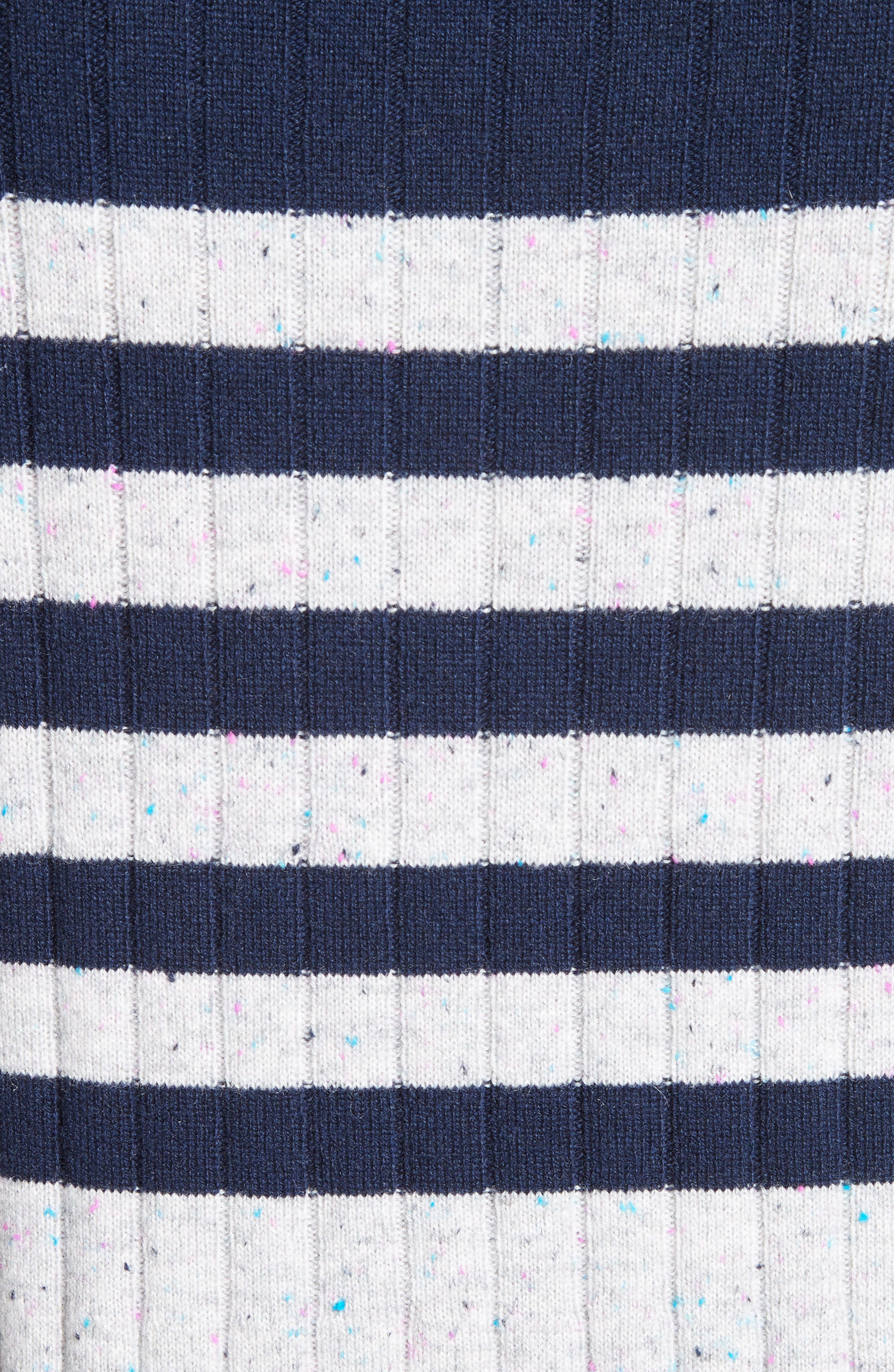 Side Button Stripe Cashmere Sweater,                             Alternate thumbnail 5, color,