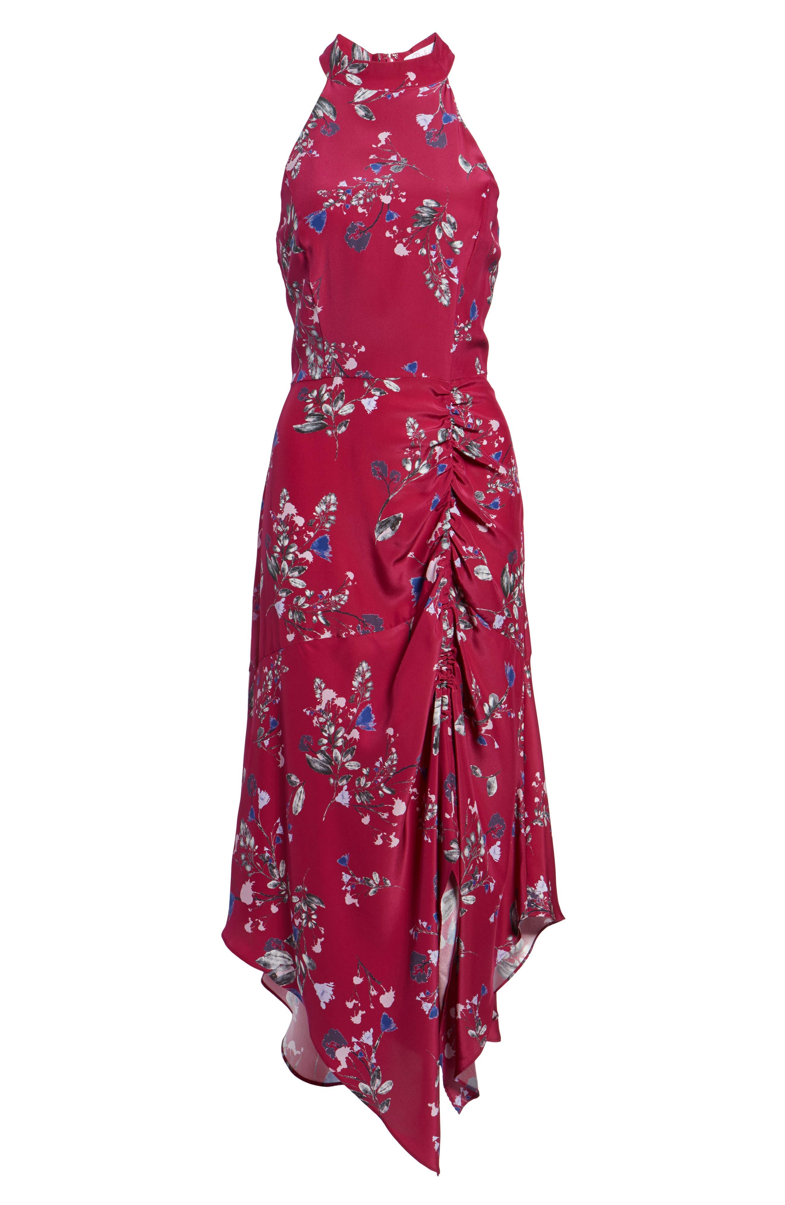 Jagger Silk Midi Dress,                             Alternate thumbnail 6, color,                             697