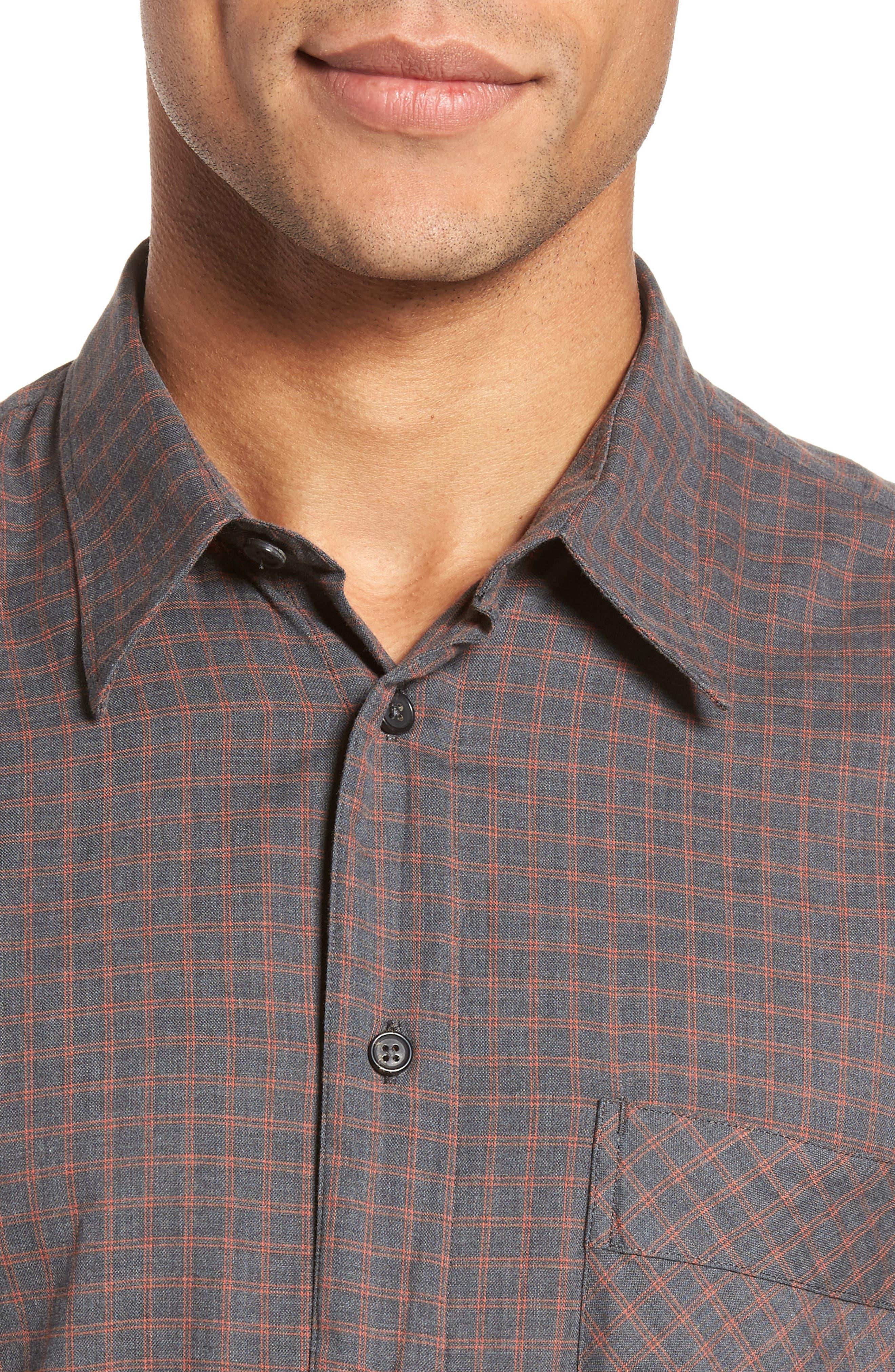 Walland Standard Fit Check Sport Shirt,                             Alternate thumbnail 4, color,