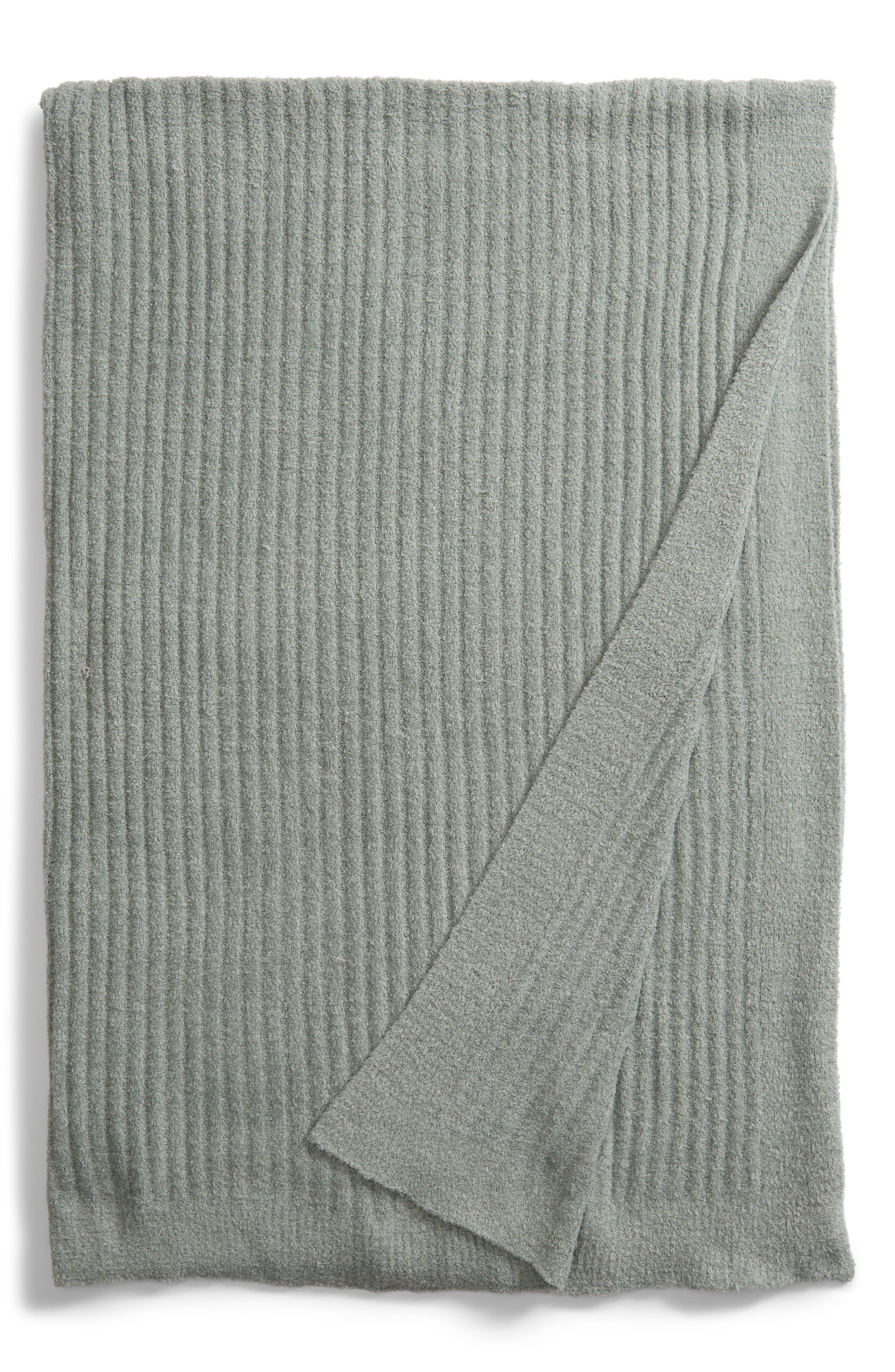 Cozychic<sup>®</sup> Ribbed Throw Blanket,                             Main thumbnail 1, color,                             ICEBERG GREEN