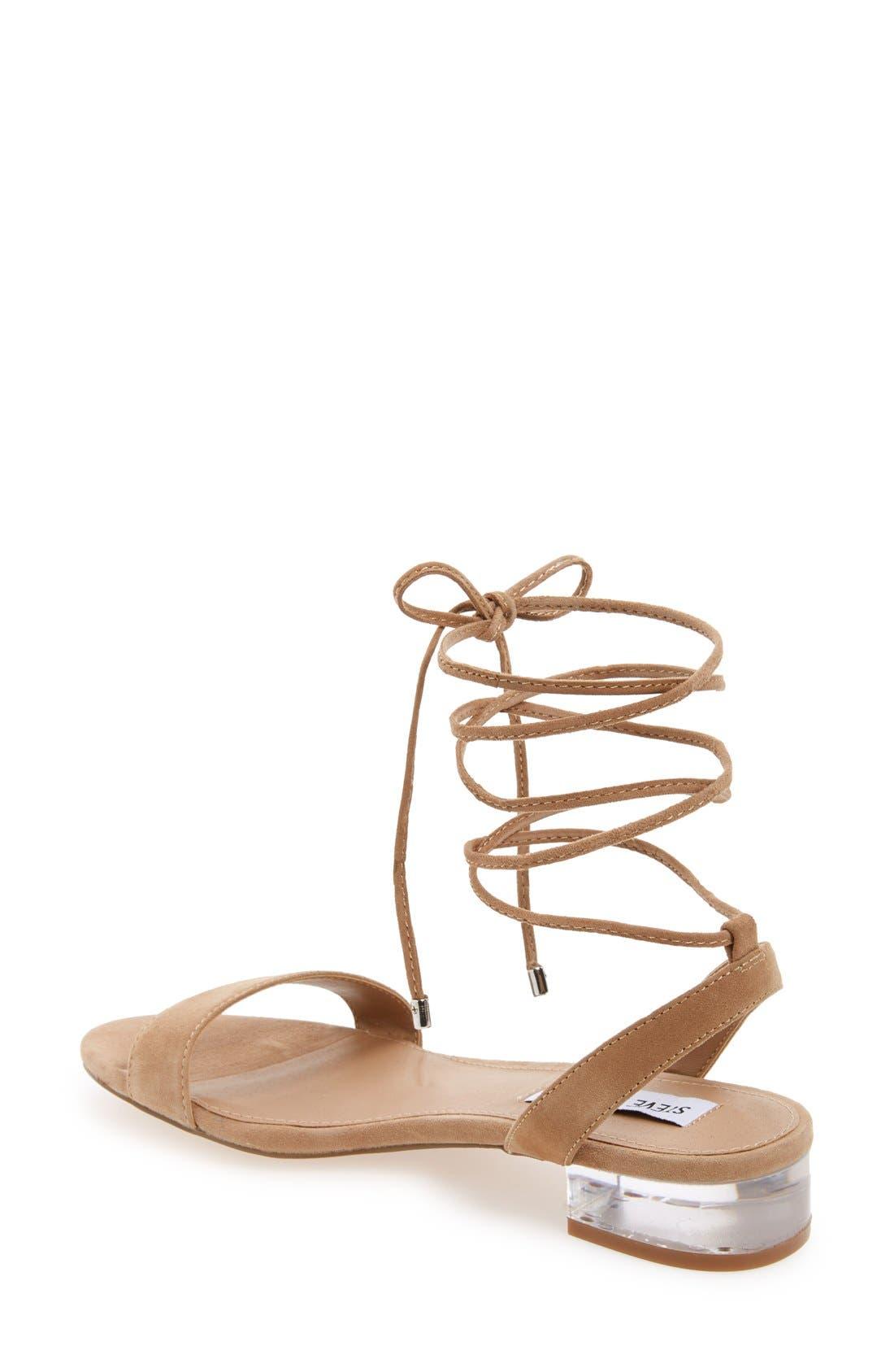 'Carolyn' Lace-Up Sandal,                             Alternate thumbnail 5, color,