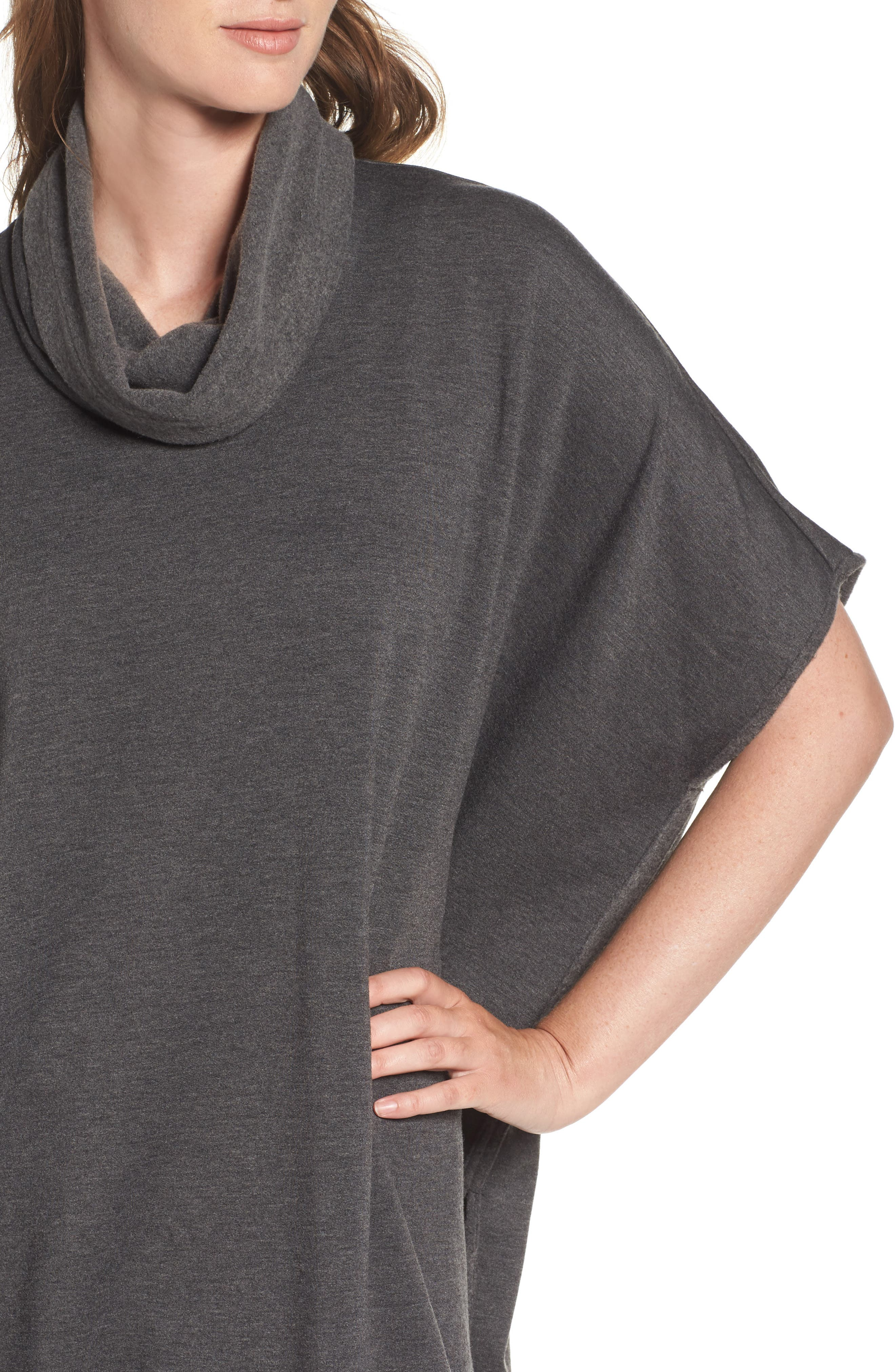 Brushed Jersey Poncho,                             Alternate thumbnail 8, color,