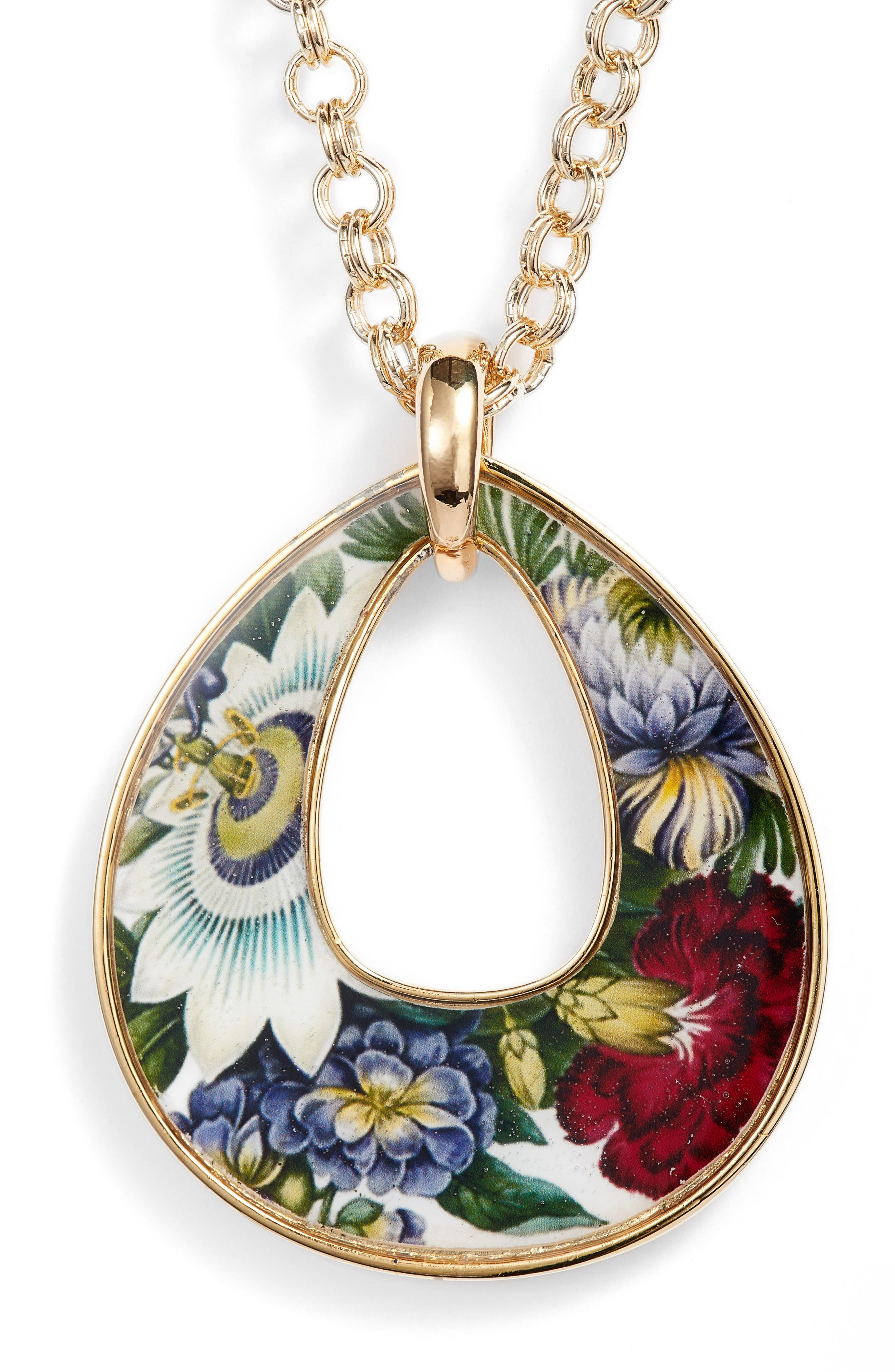 Rudiments Teardrop Pendant Necklace,                         Main,                         color, MULTI
