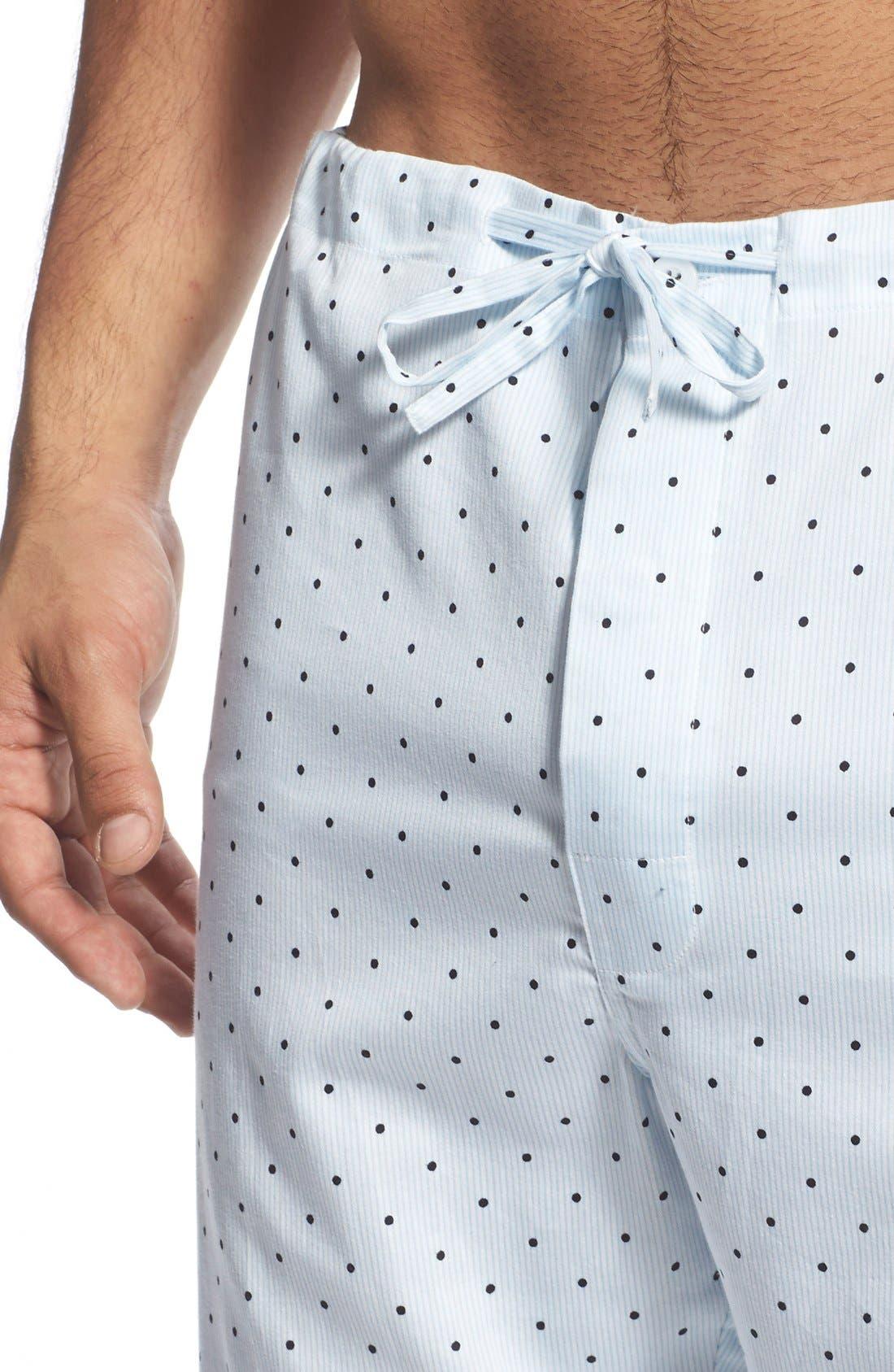 'Twilight' Cotton Pajamas,                             Alternate thumbnail 4, color,