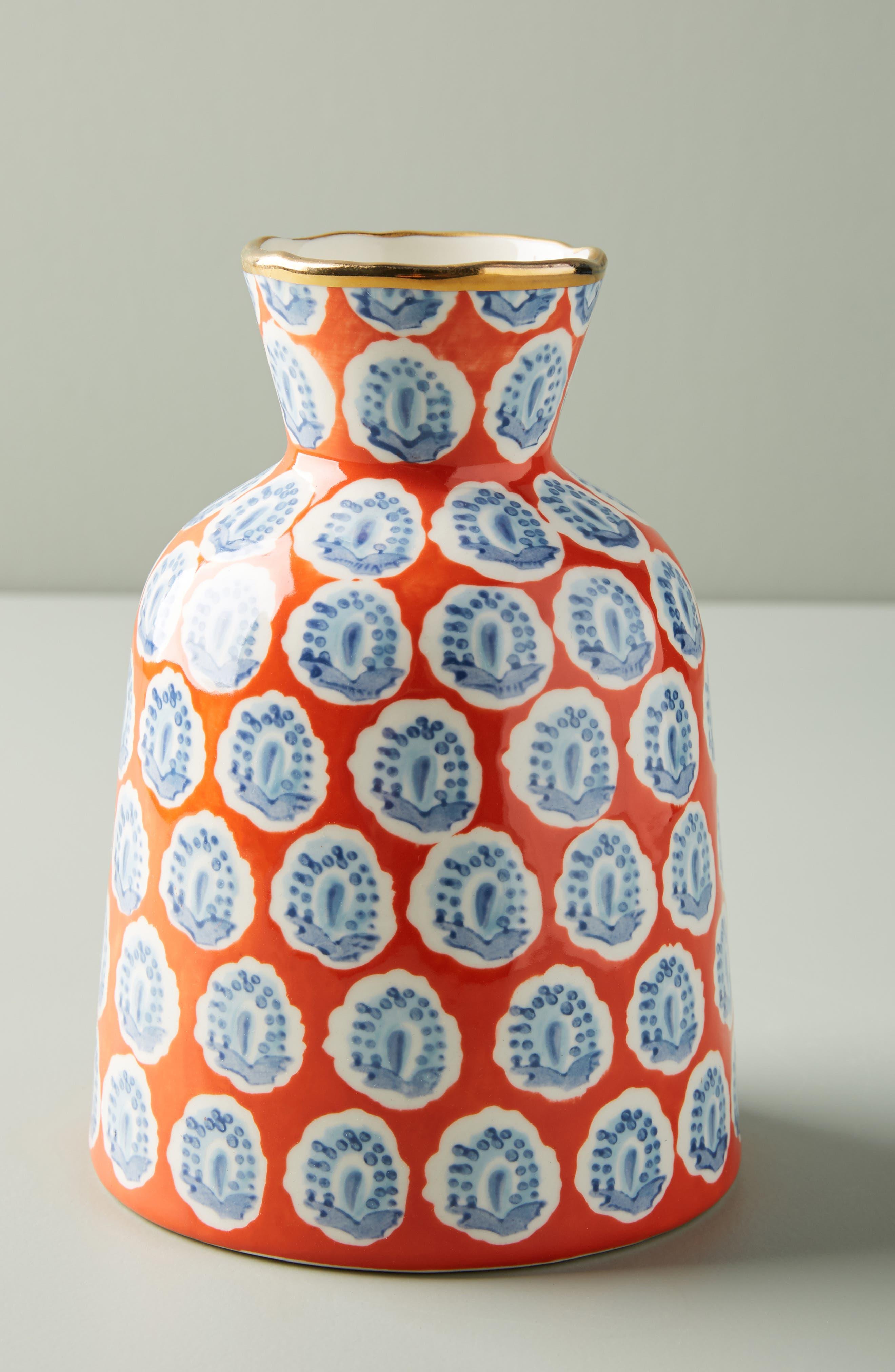 ANTHROPOLOGIE Small Elsa Vase, Main, color, WARM