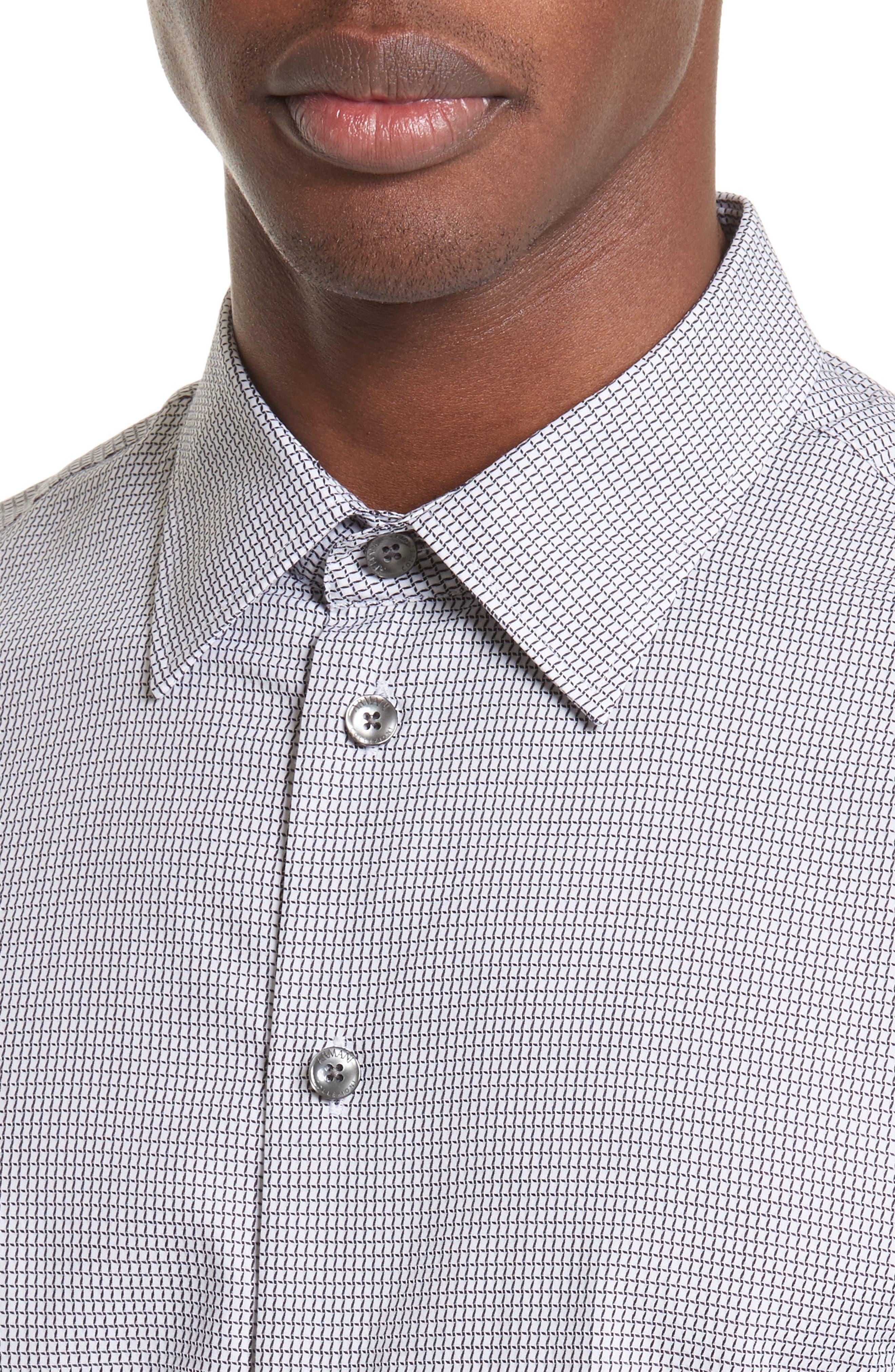 Regular Fit Check Sport Shirt,                             Alternate thumbnail 4, color,