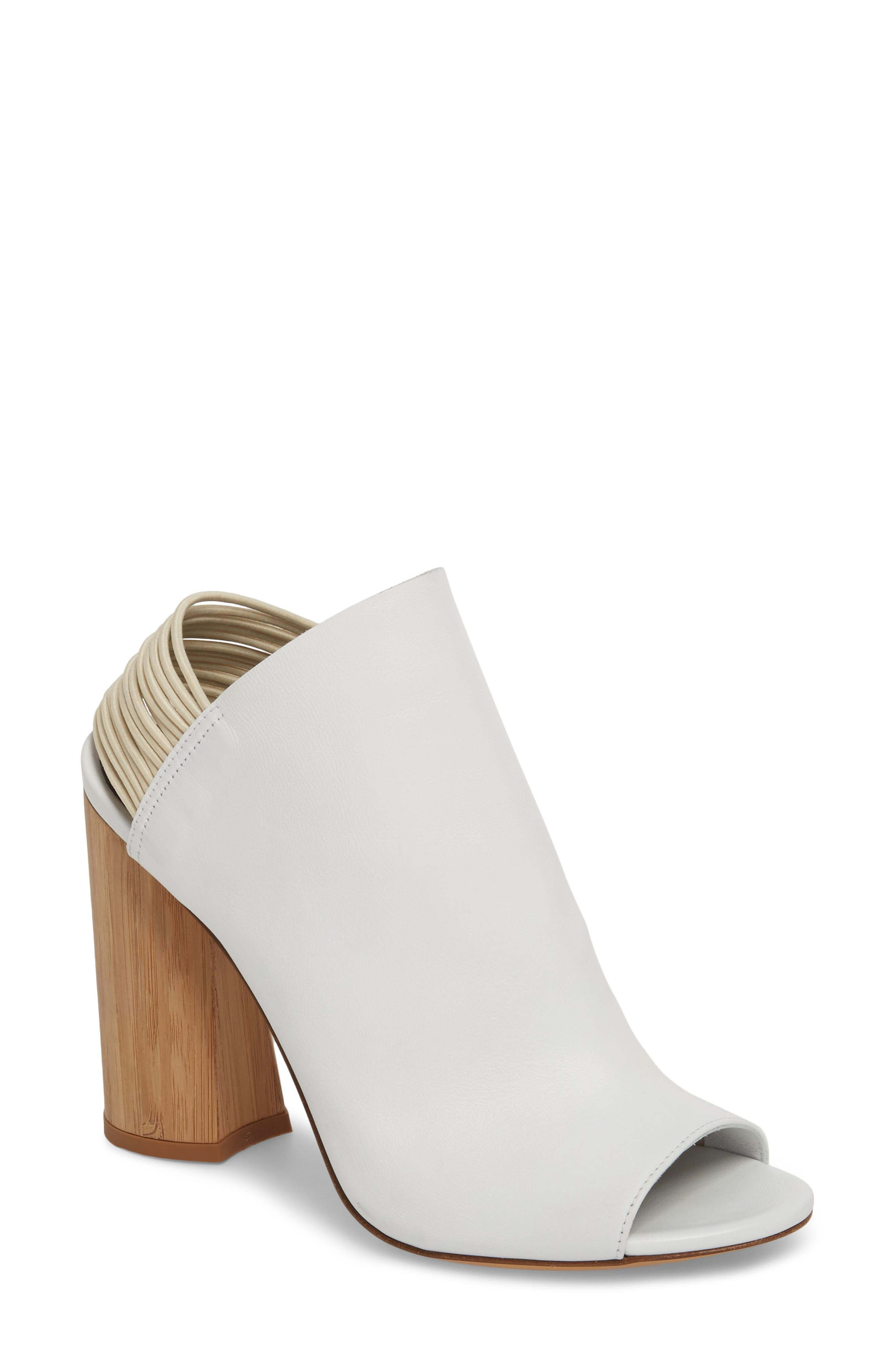 Drum Slingback Bootie,                         Main,                         color, WHITE