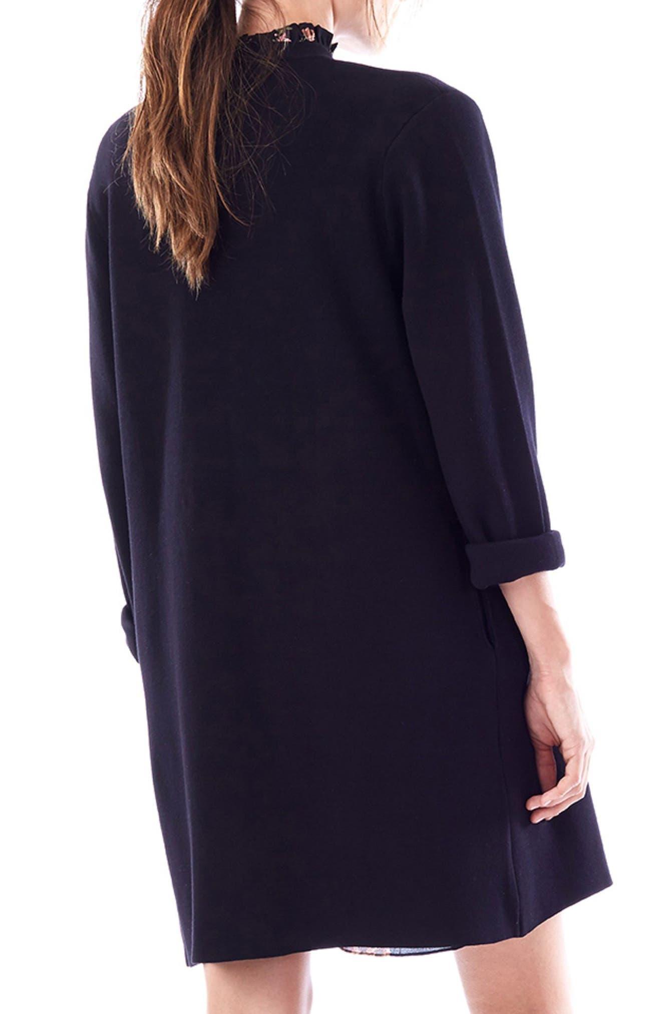 Olivia Maternity Sweater Jacket,                             Alternate thumbnail 2, color,                             BLACK