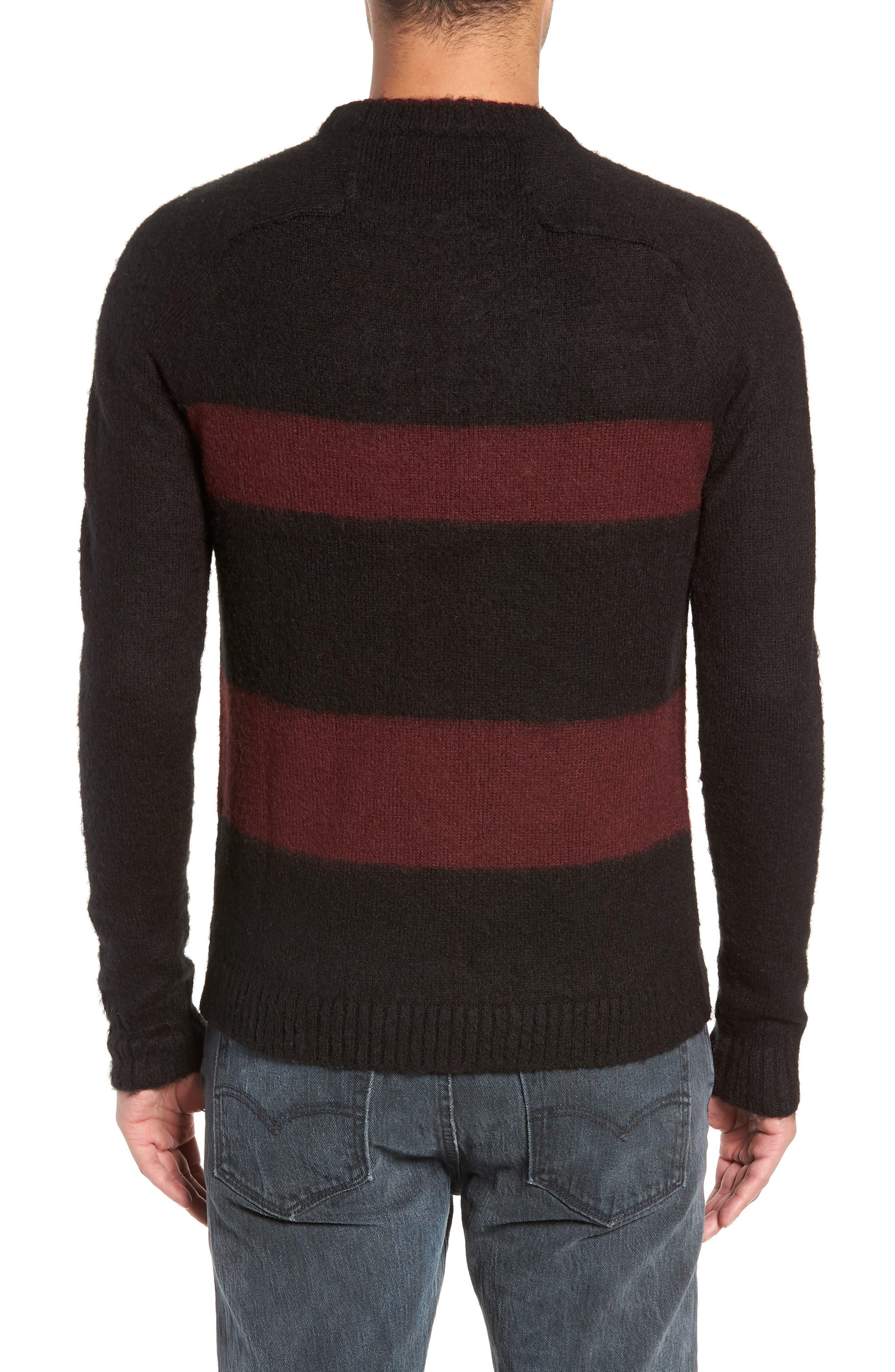 Colorblock Sweater,                             Alternate thumbnail 2, color,                             BLACK