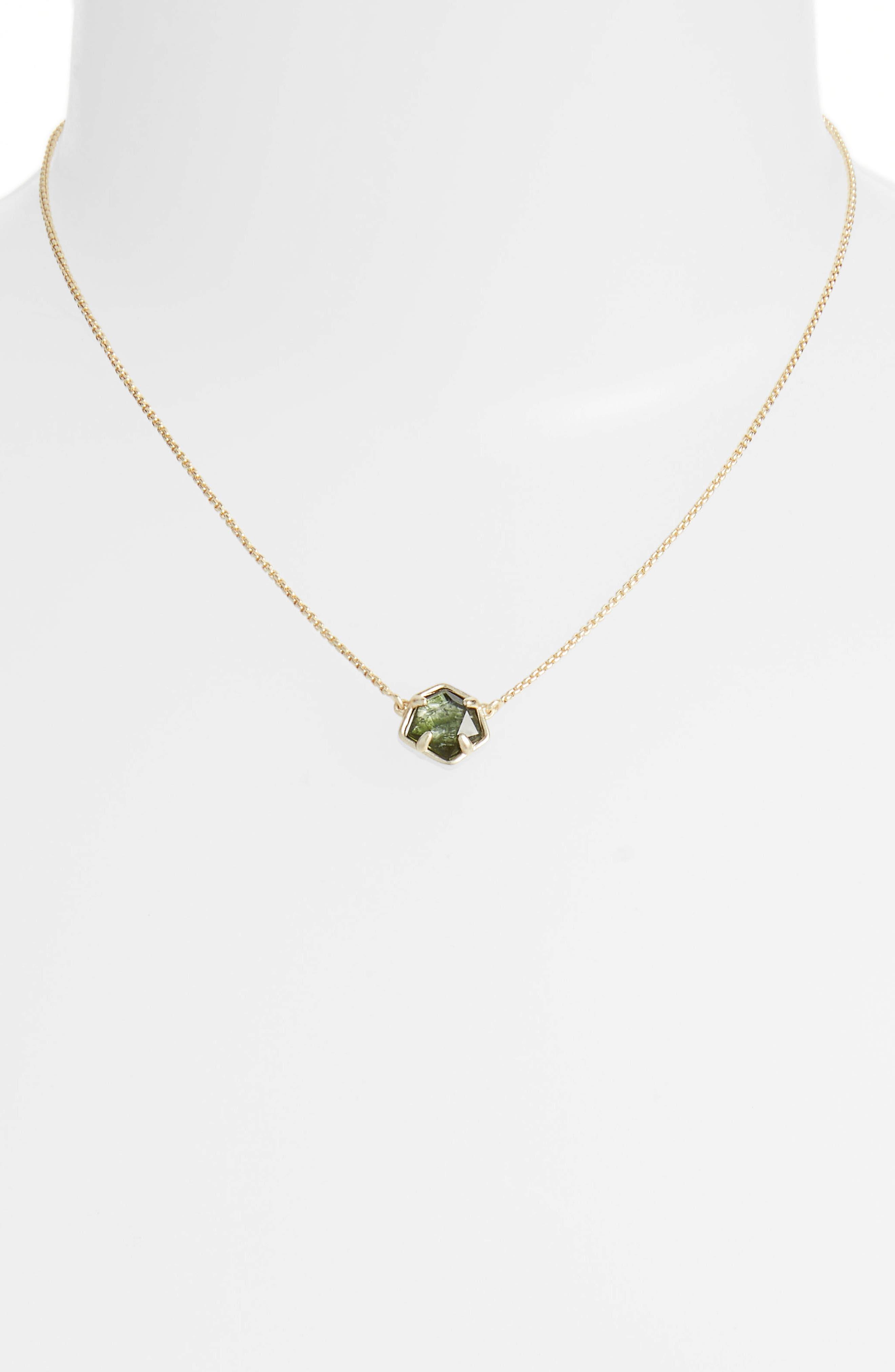 Jaxon Pendant Necklace,                             Alternate thumbnail 2, color,                             SAGE/ GOLD