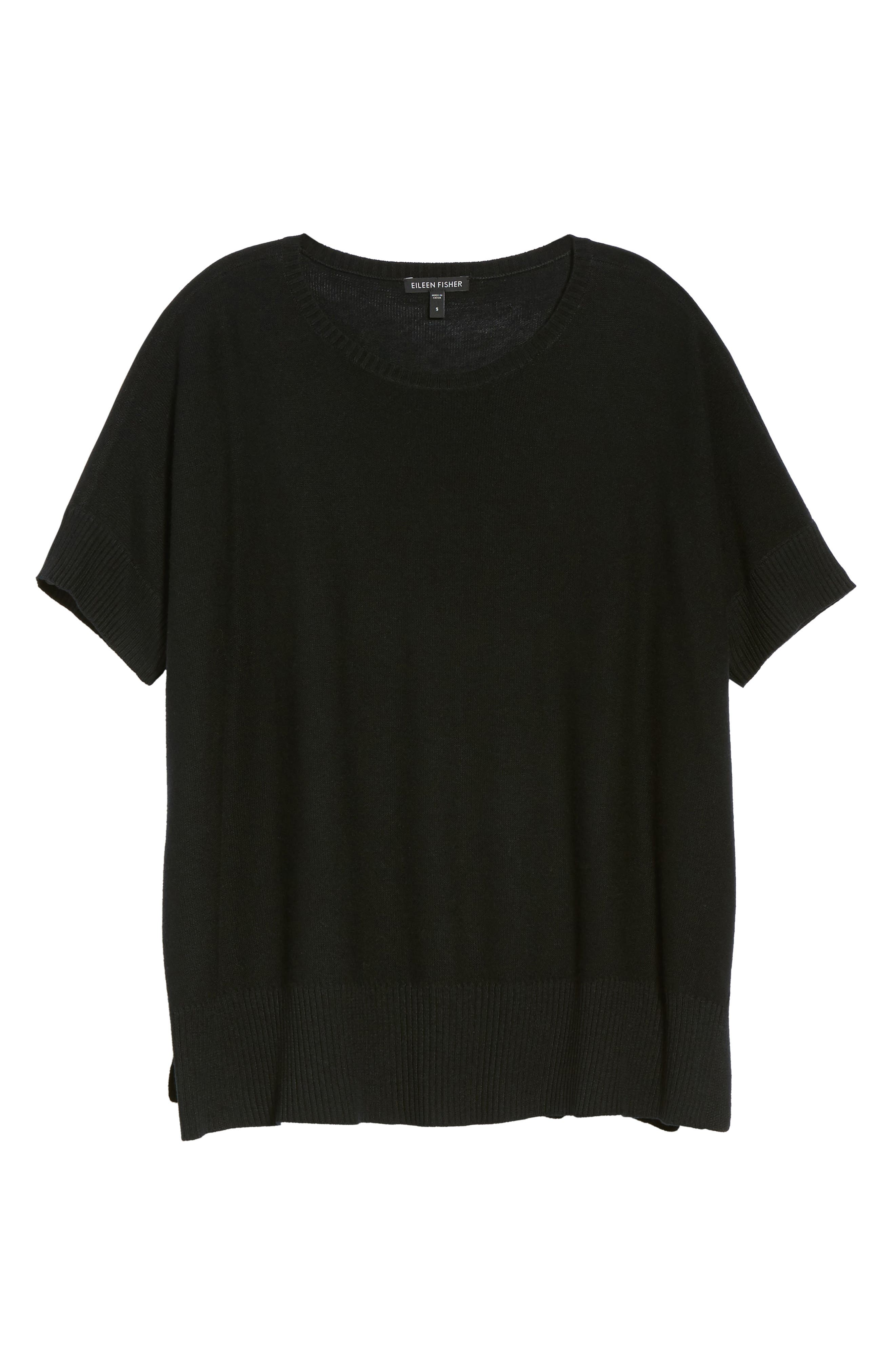 Tencel<sup>®</sup> & Merino Wool Top,                             Alternate thumbnail 6, color,                             001