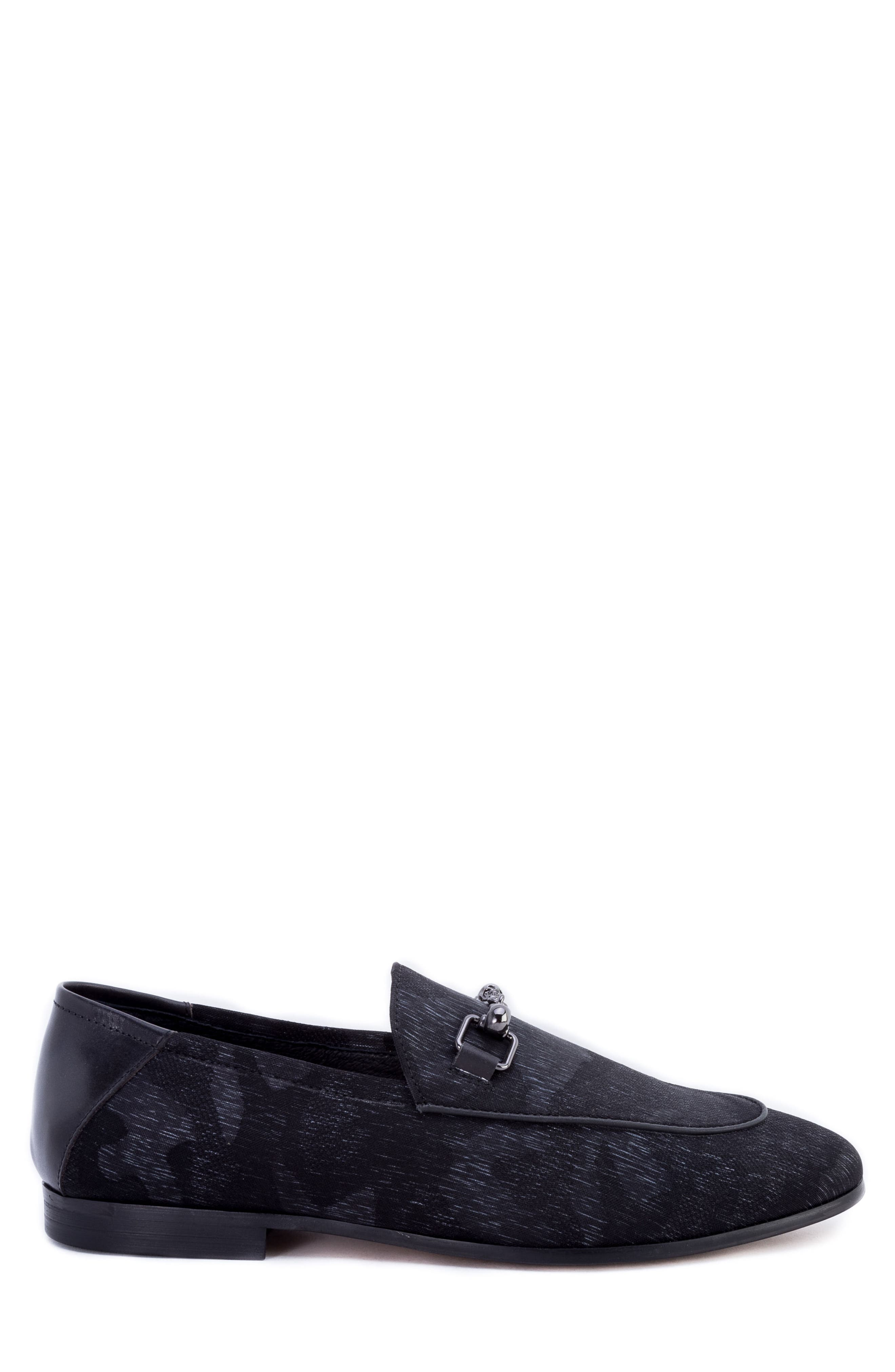 Barton Camouflage Bit Loafer,                             Alternate thumbnail 3, color,                             GREY FABRIC