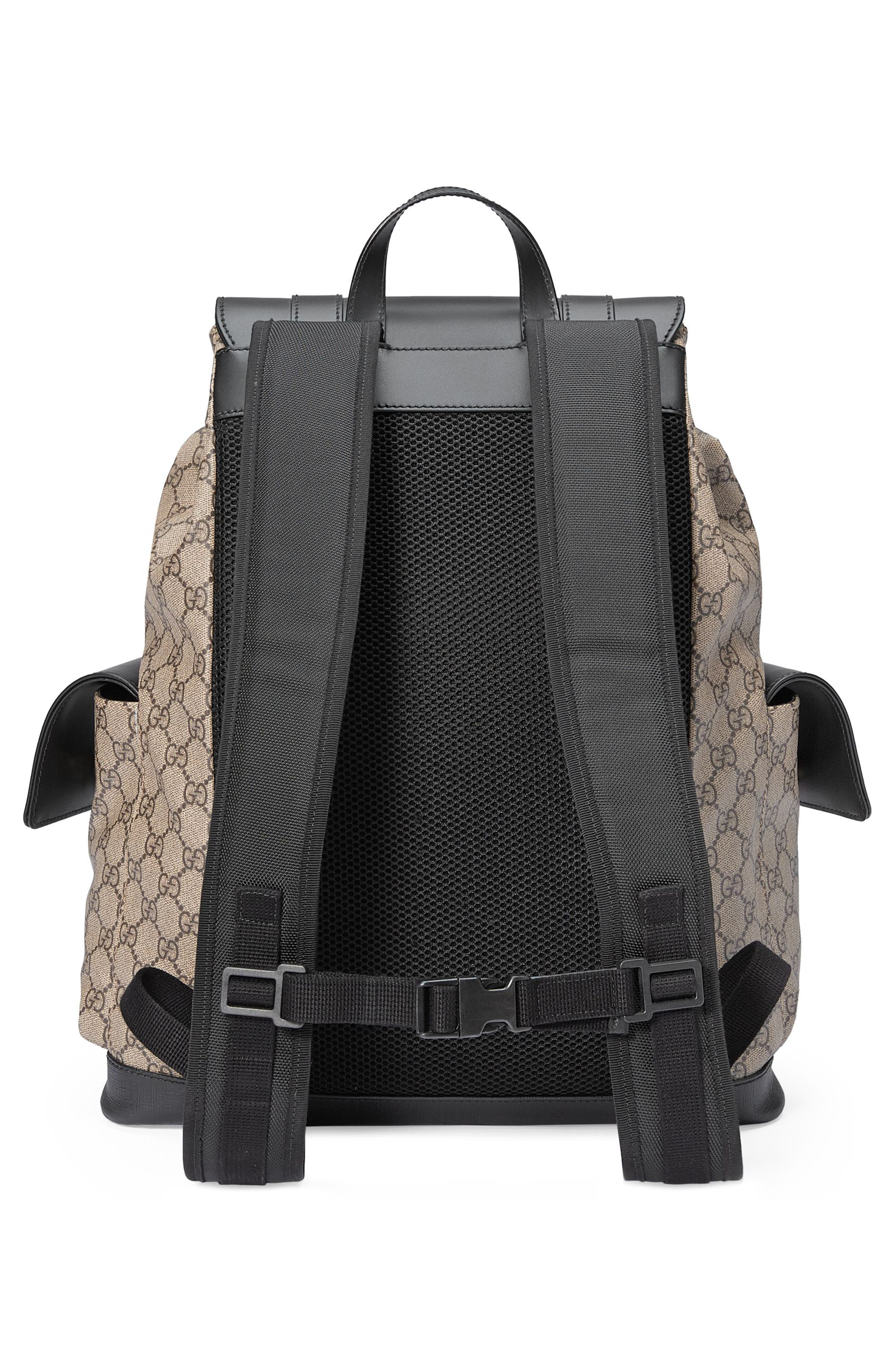 Eden Flap Top Canvas Backpack,                             Alternate thumbnail 3, color,                             250