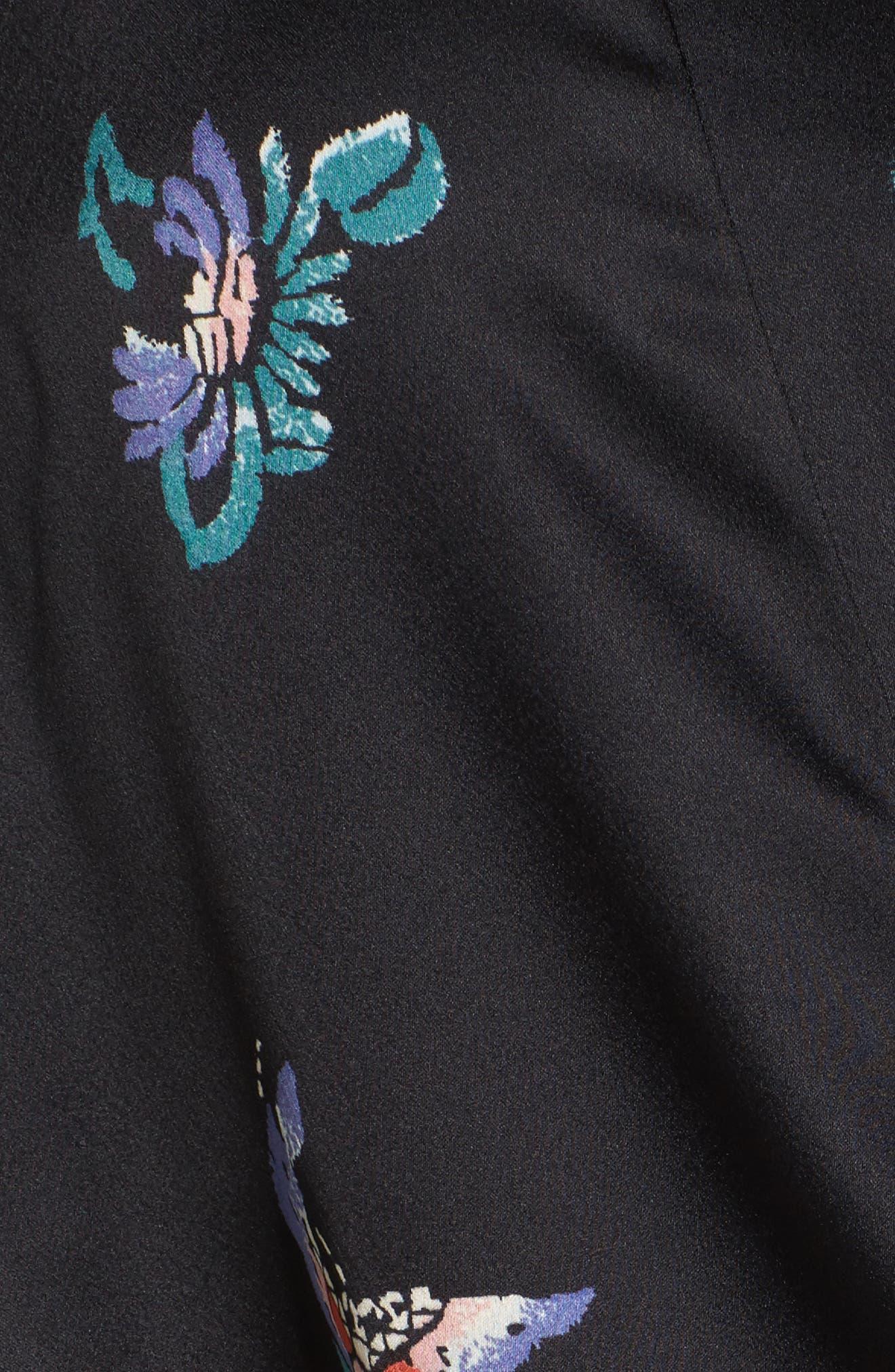 Papillon Print Wrap,                             Alternate thumbnail 5, color,                             001