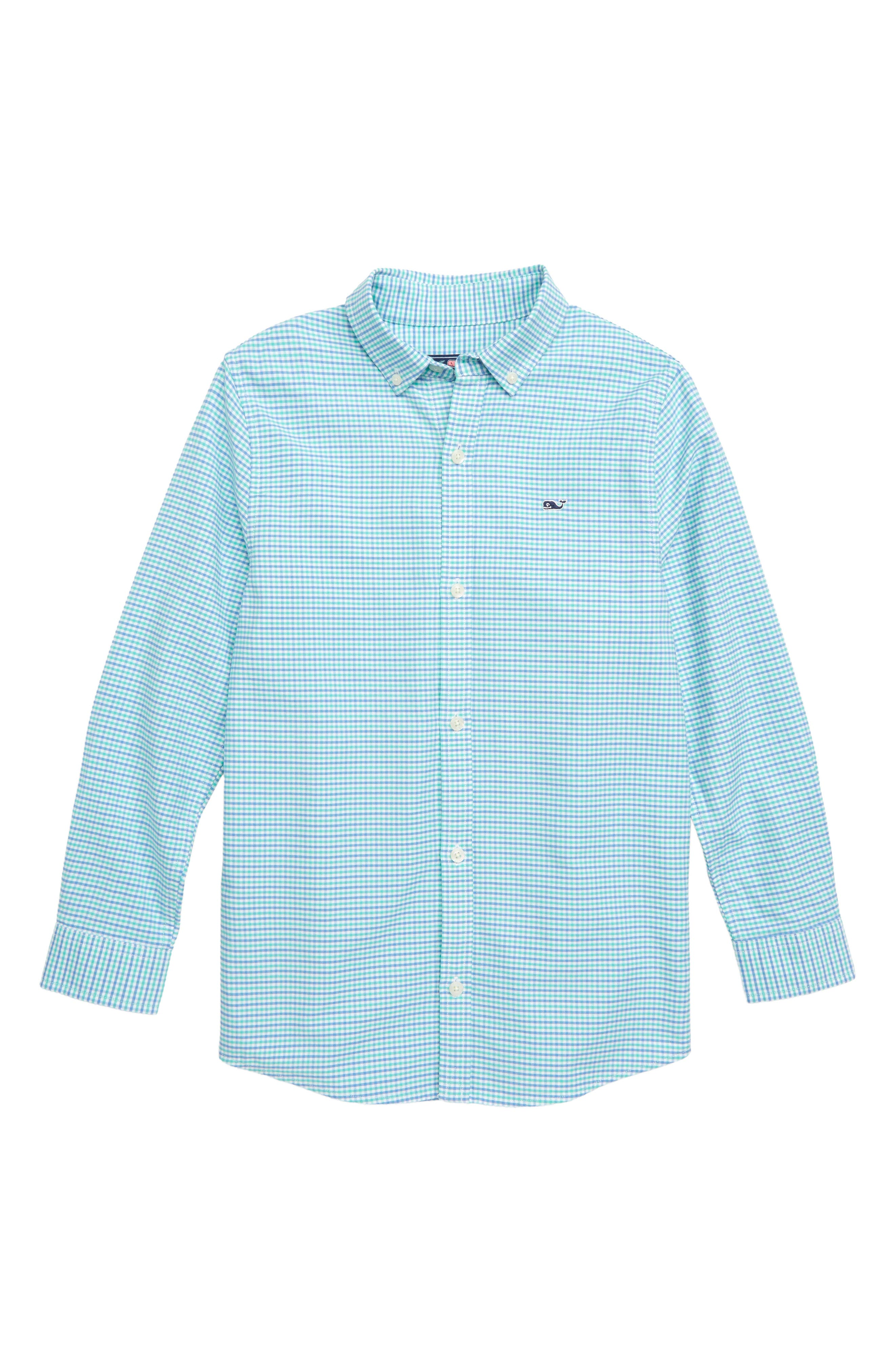 Bell Haven Plaid Oxford Shirt,                         Main,                         color, CAPRI BLUE