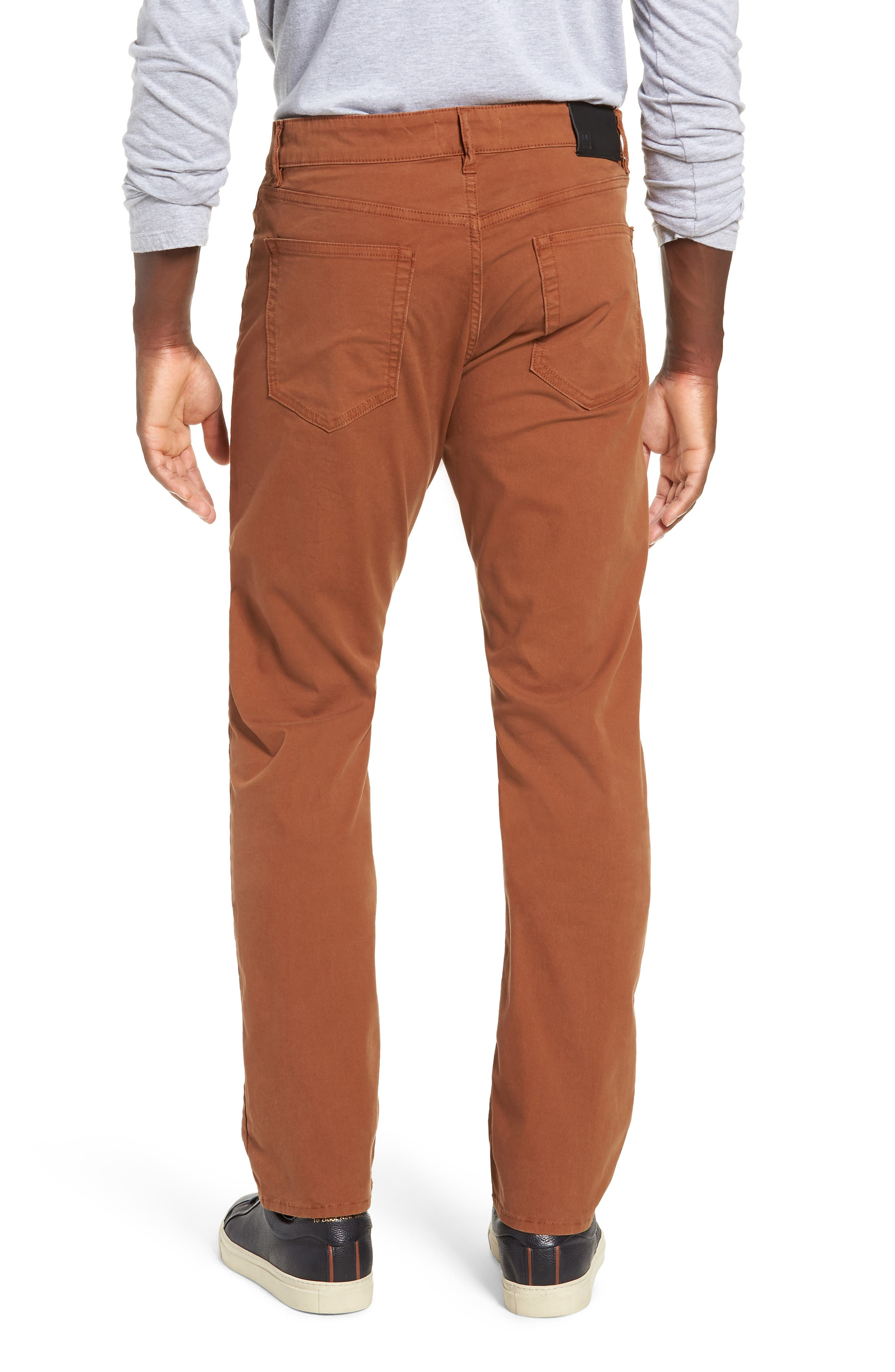 Russell Slim Straight Leg Jeans,                             Alternate thumbnail 2, color,                             TERRACOTTA
